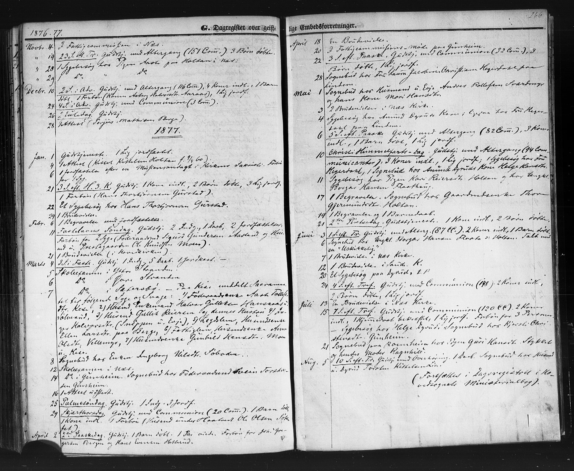 SAKO, Sauherad kirkebøker, F/Fb/L0001: Ministerialbok nr. II 1, 1851-1877, s. 266