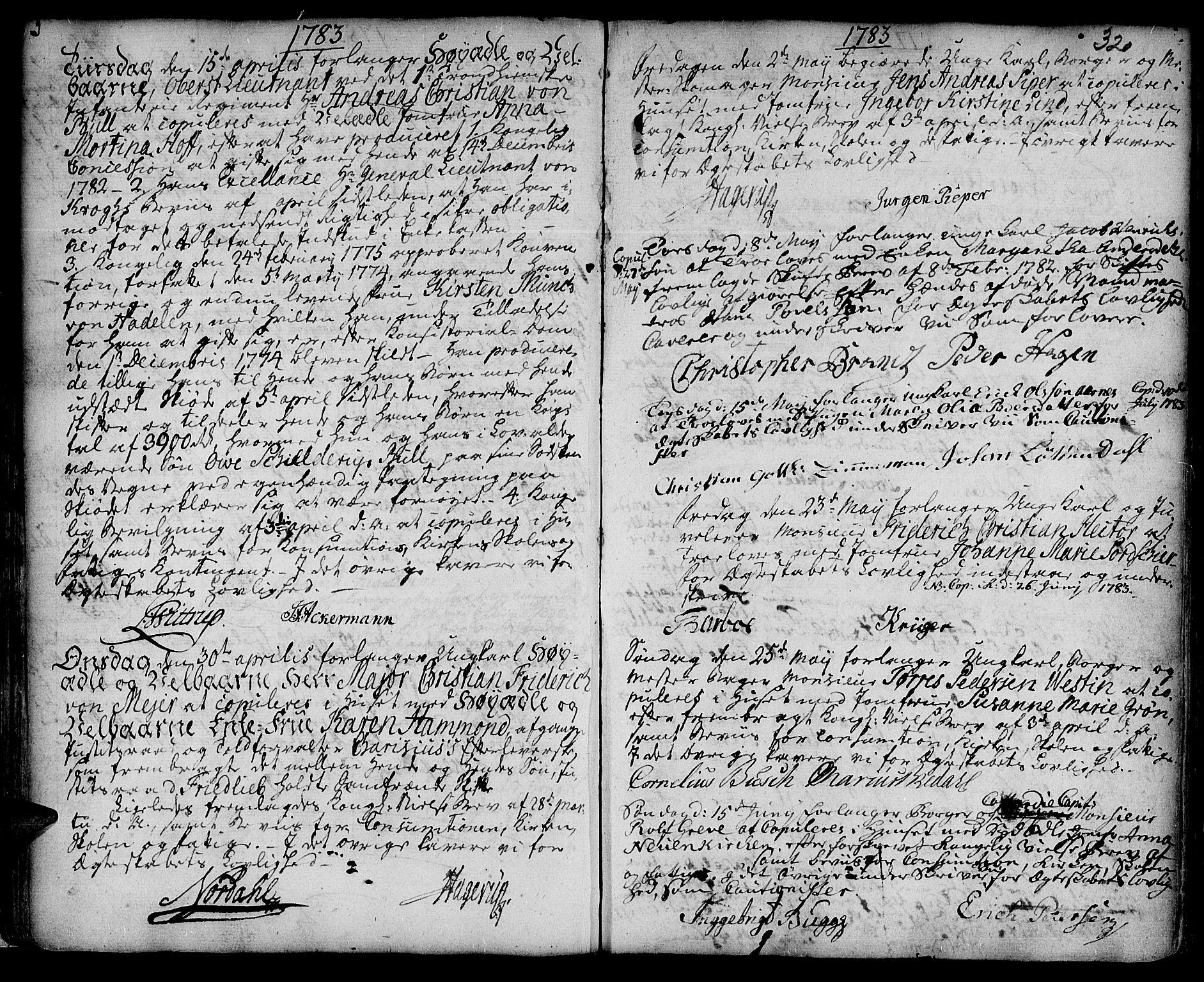 SAT, Ministerialprotokoller, klokkerbøker og fødselsregistre - Sør-Trøndelag, 601/L0038: Ministerialbok nr. 601A06, 1766-1877, s. 320