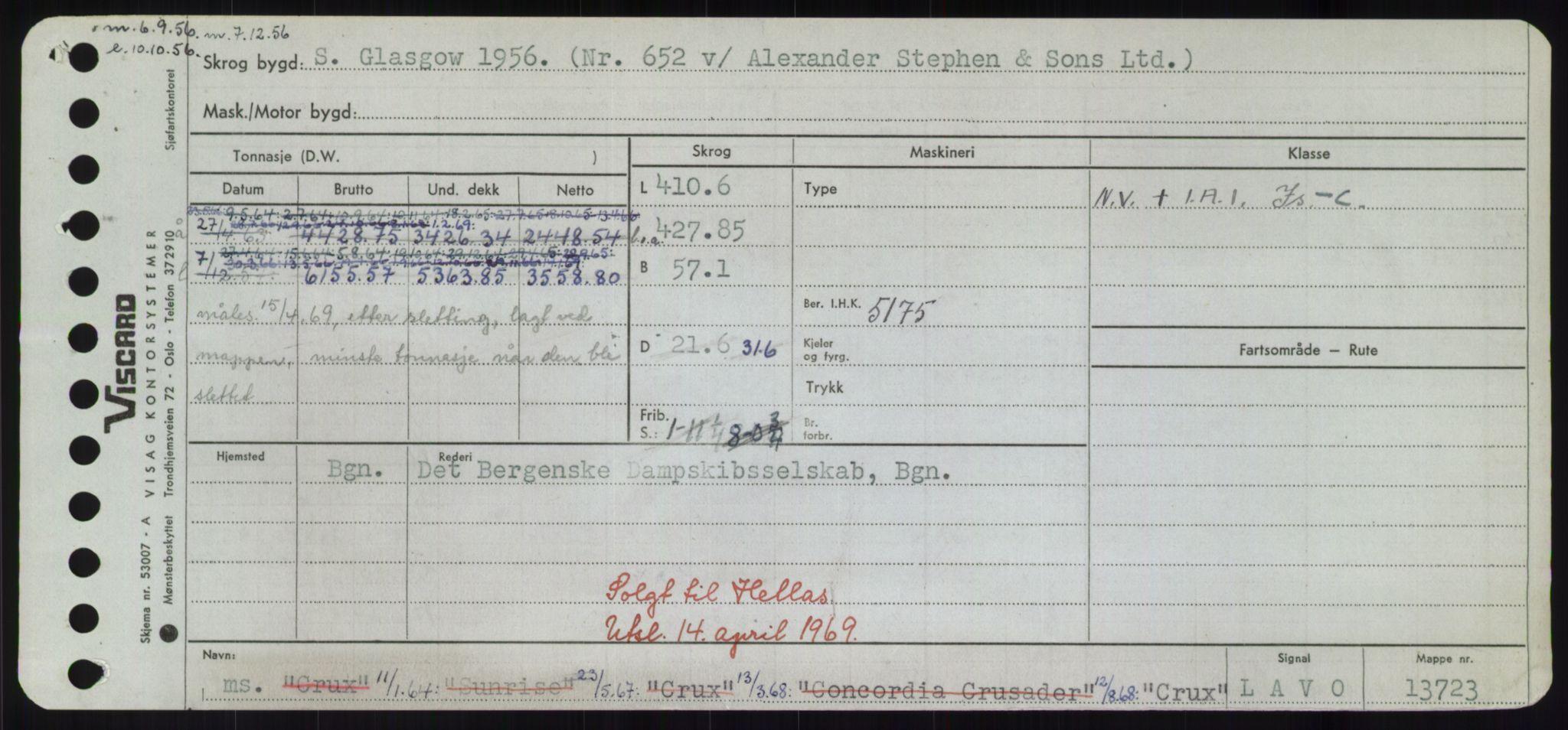 RA, Sjøfartsdirektoratet med forløpere, Skipsmålingen, H/Hd/L0008: Fartøy, C-D, s. 271