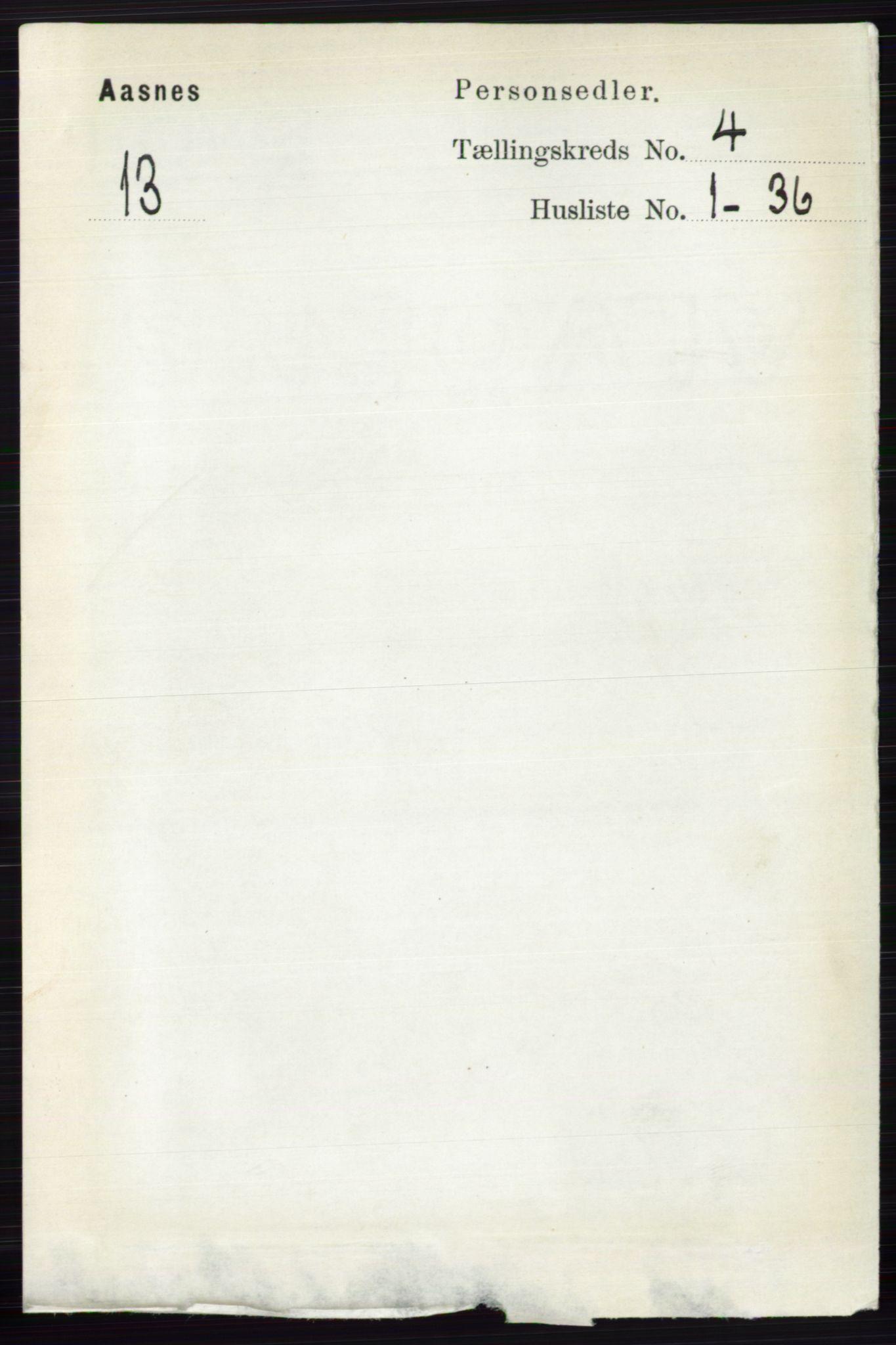 RA, Folketelling 1891 for 0425 Åsnes herred, 1891, s. 1670
