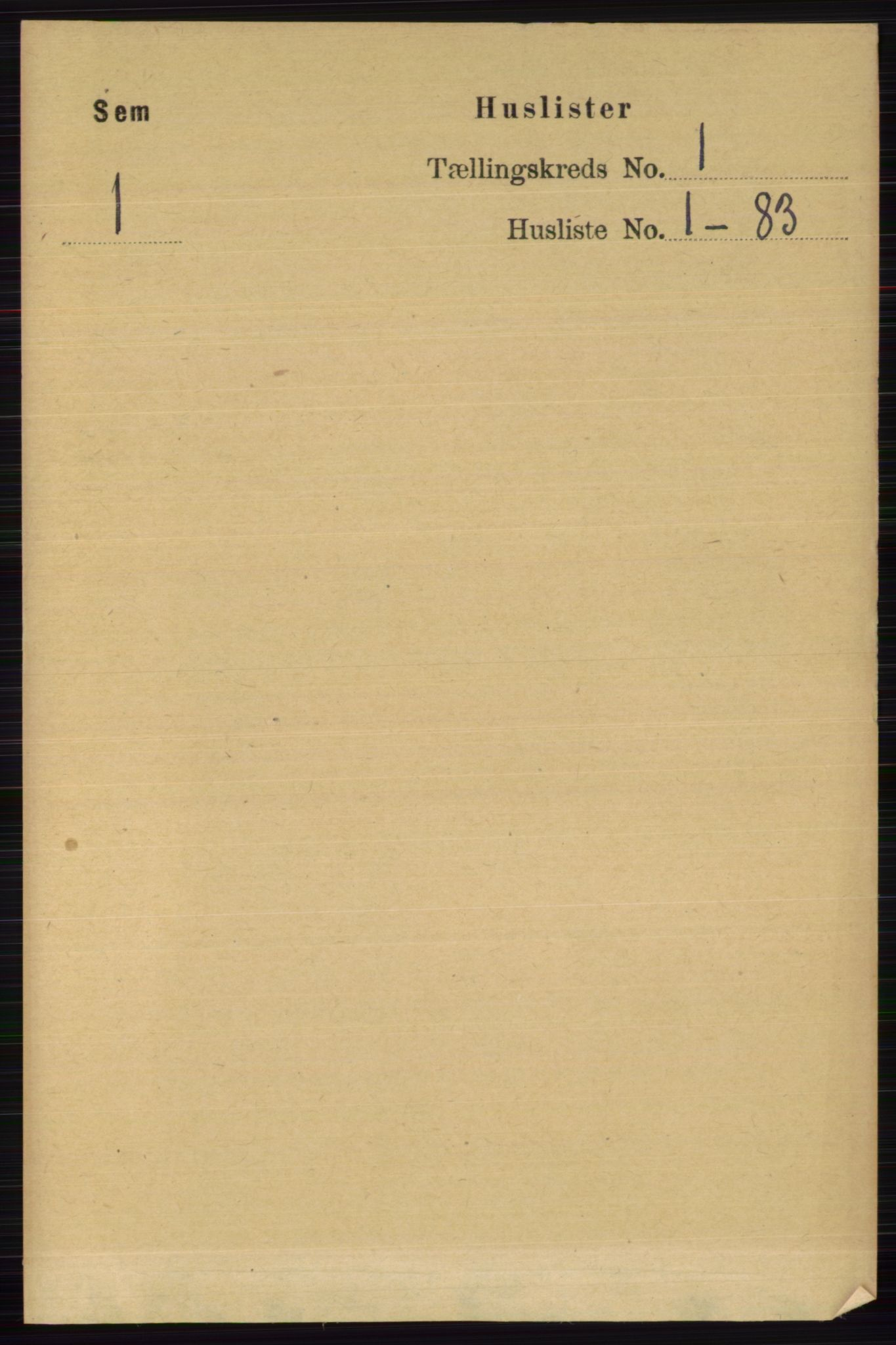 RA, Folketelling 1891 for 0721 Sem herred, 1891, s. 33