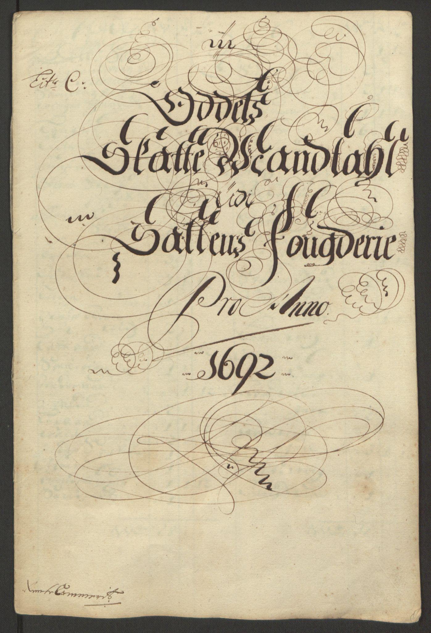 RA, Rentekammeret inntil 1814, Reviderte regnskaper, Fogderegnskap, R66/L4577: Fogderegnskap Salten, 1691-1693, s. 170