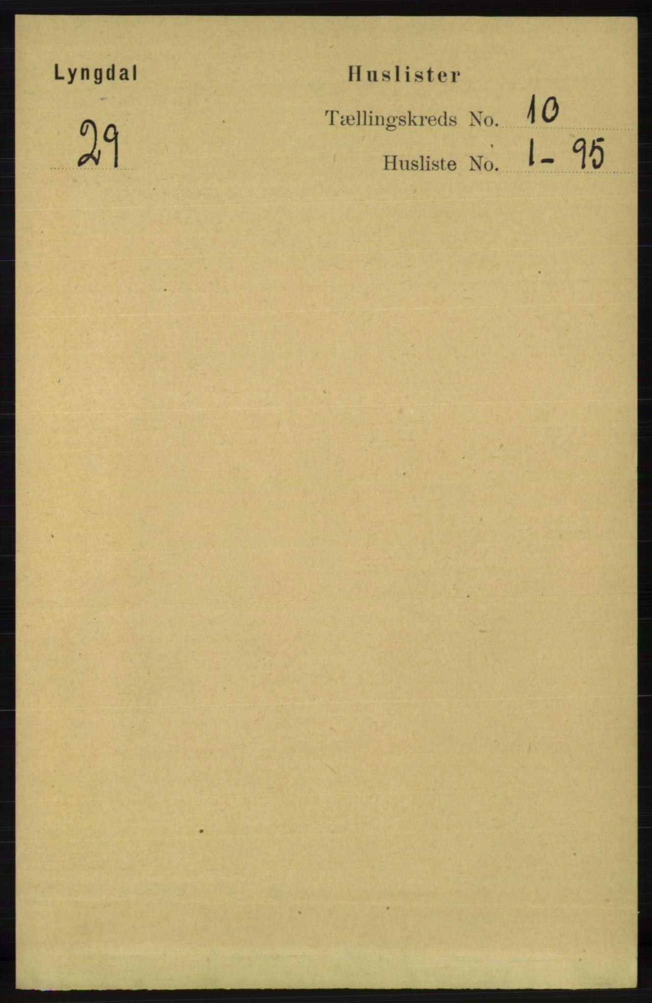 RA, Folketelling 1891 for 1032 Lyngdal herred, 1891, s. 4155