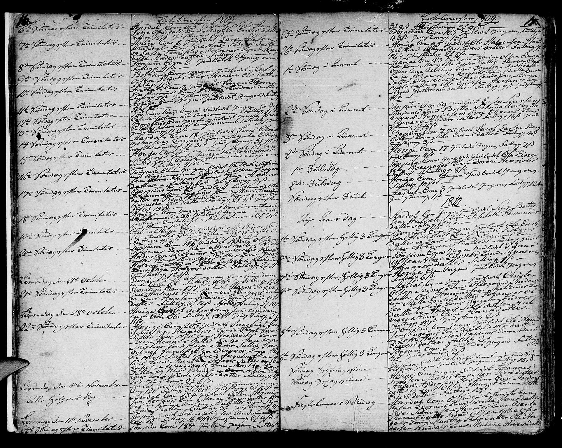 SAB, Lærdal sokneprestembete, Ministerialbok nr. A 4, 1805-1821, s. 16-17