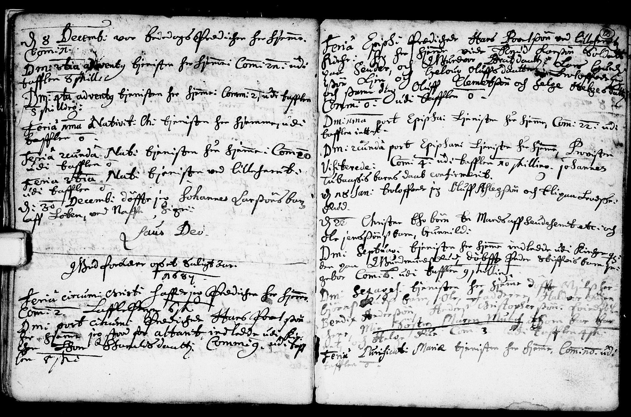 SAKO, Heddal kirkebøker, F/Fa/L0001: Ministerialbok nr. I 1, 1648-1699, s. 12