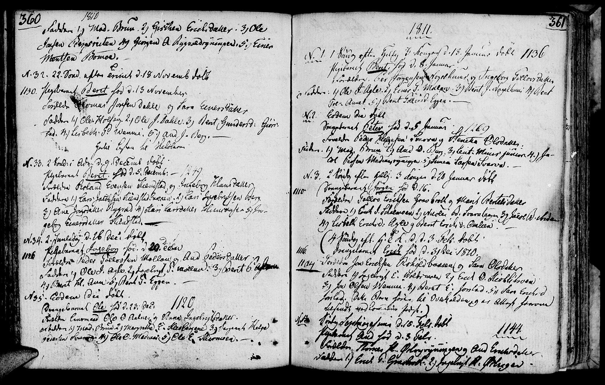 SAT, Ministerialprotokoller, klokkerbøker og fødselsregistre - Nord-Trøndelag, 749/L0468: Ministerialbok nr. 749A02, 1787-1817, s. 360-361