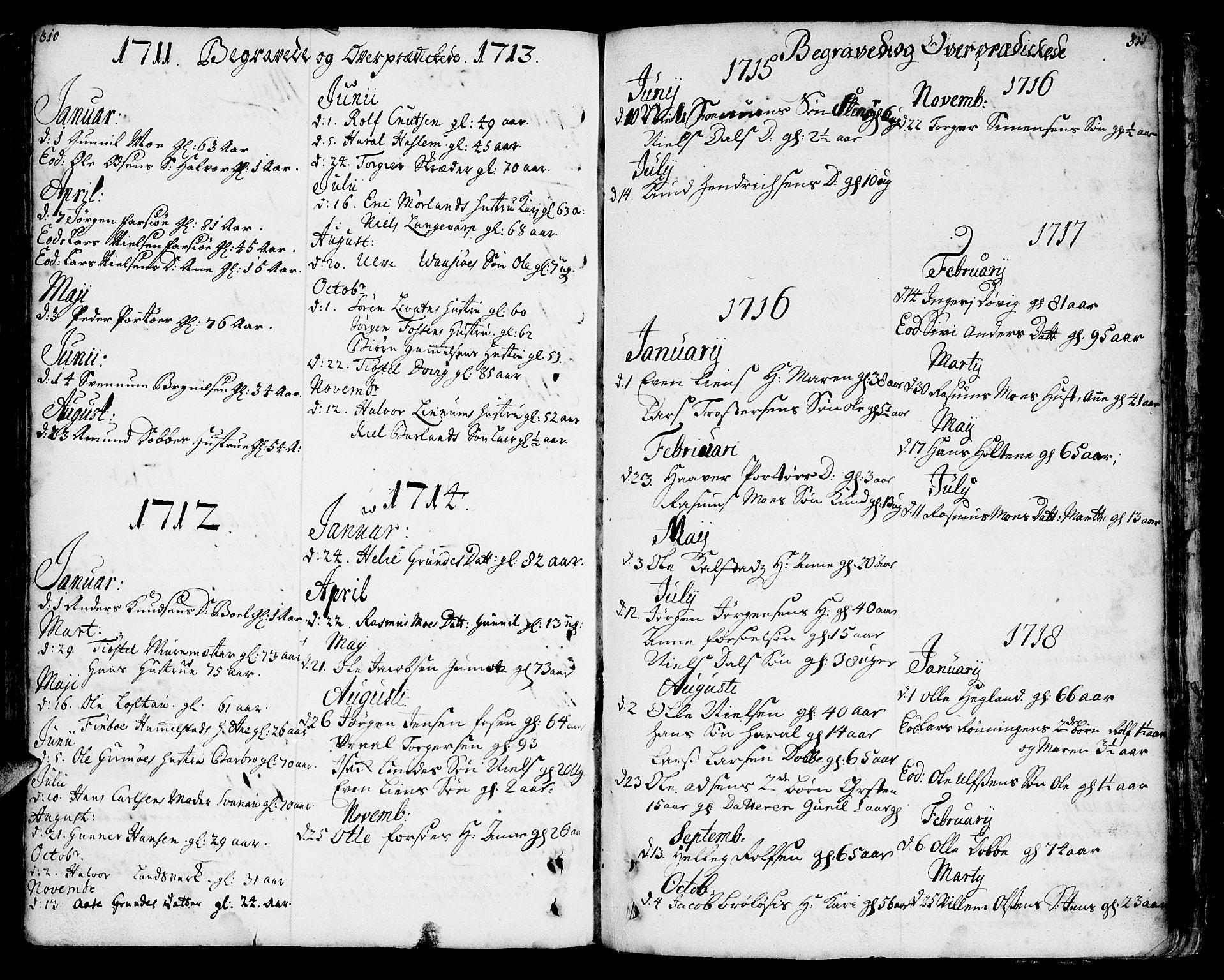 SAKO, Sannidal kirkebøker, F/Fa/L0001: Ministerialbok nr. 1, 1702-1766, s. 310-311