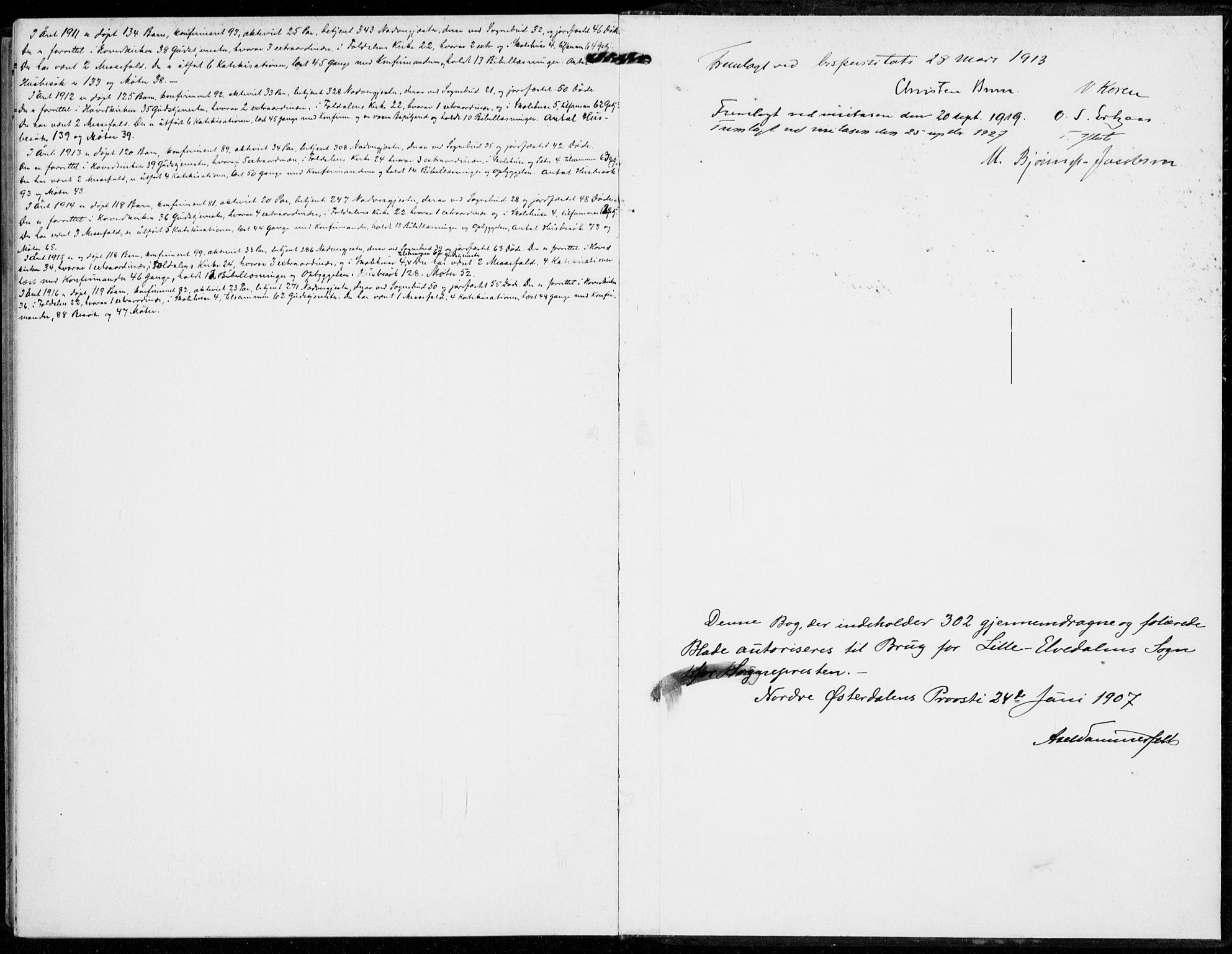SAH, Alvdal prestekontor, Ministerialbok nr. 4, 1907-1919