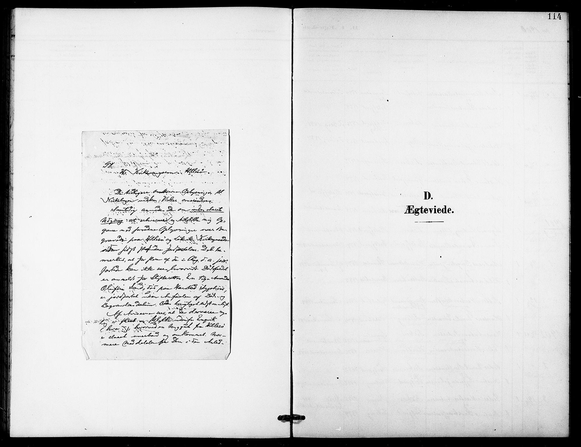 SATØ, Lenvik sokneprestembete, H/Ha: Klokkerbok nr. 22, 1901-1918, s. 114