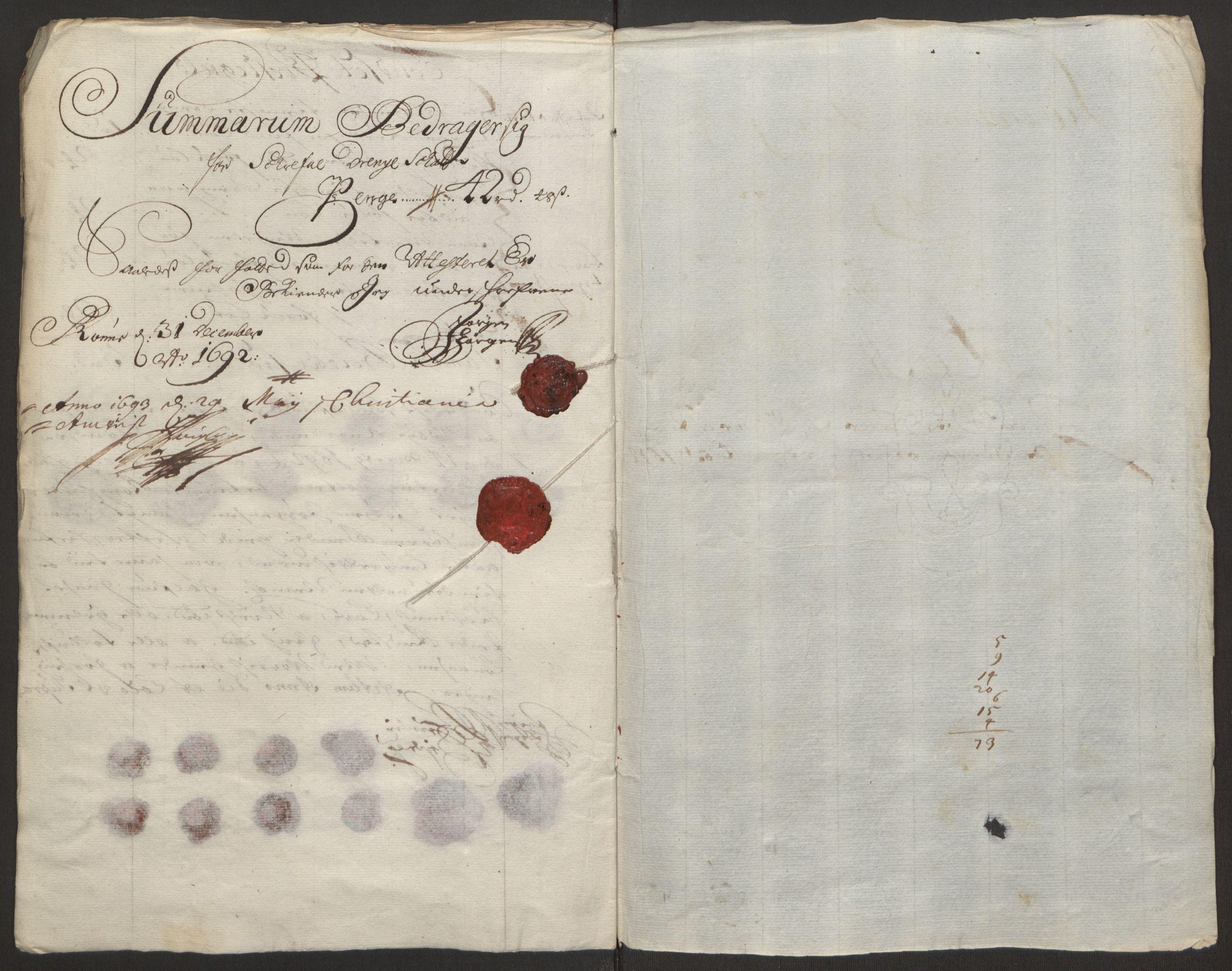 RA, Rentekammeret inntil 1814, Reviderte regnskaper, Fogderegnskap, R13/L0830: Fogderegnskap Solør, Odal og Østerdal, 1692, s. 240