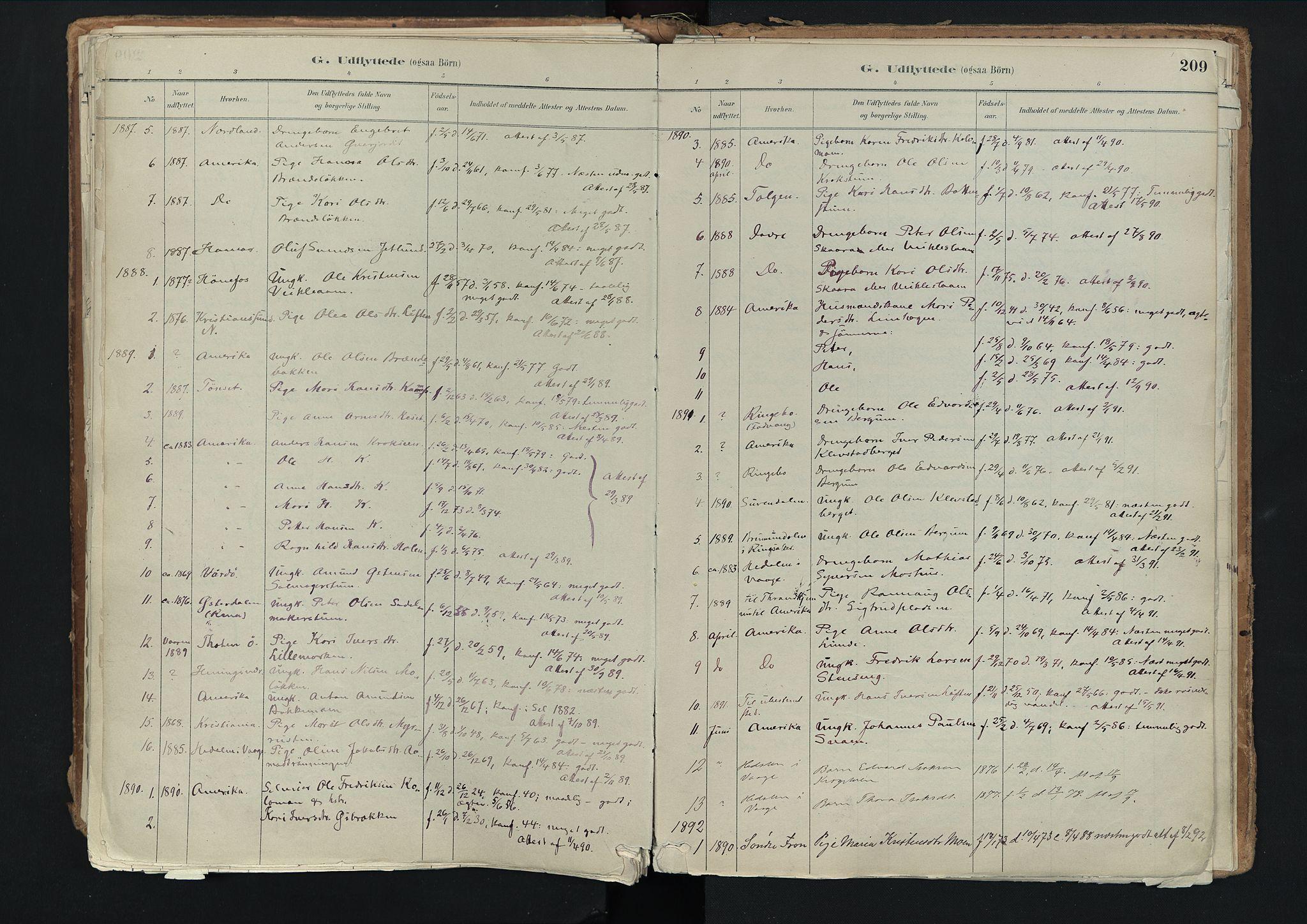 SAH, Nord-Fron prestekontor, Ministerialbok nr. 3, 1884-1914, s. 209