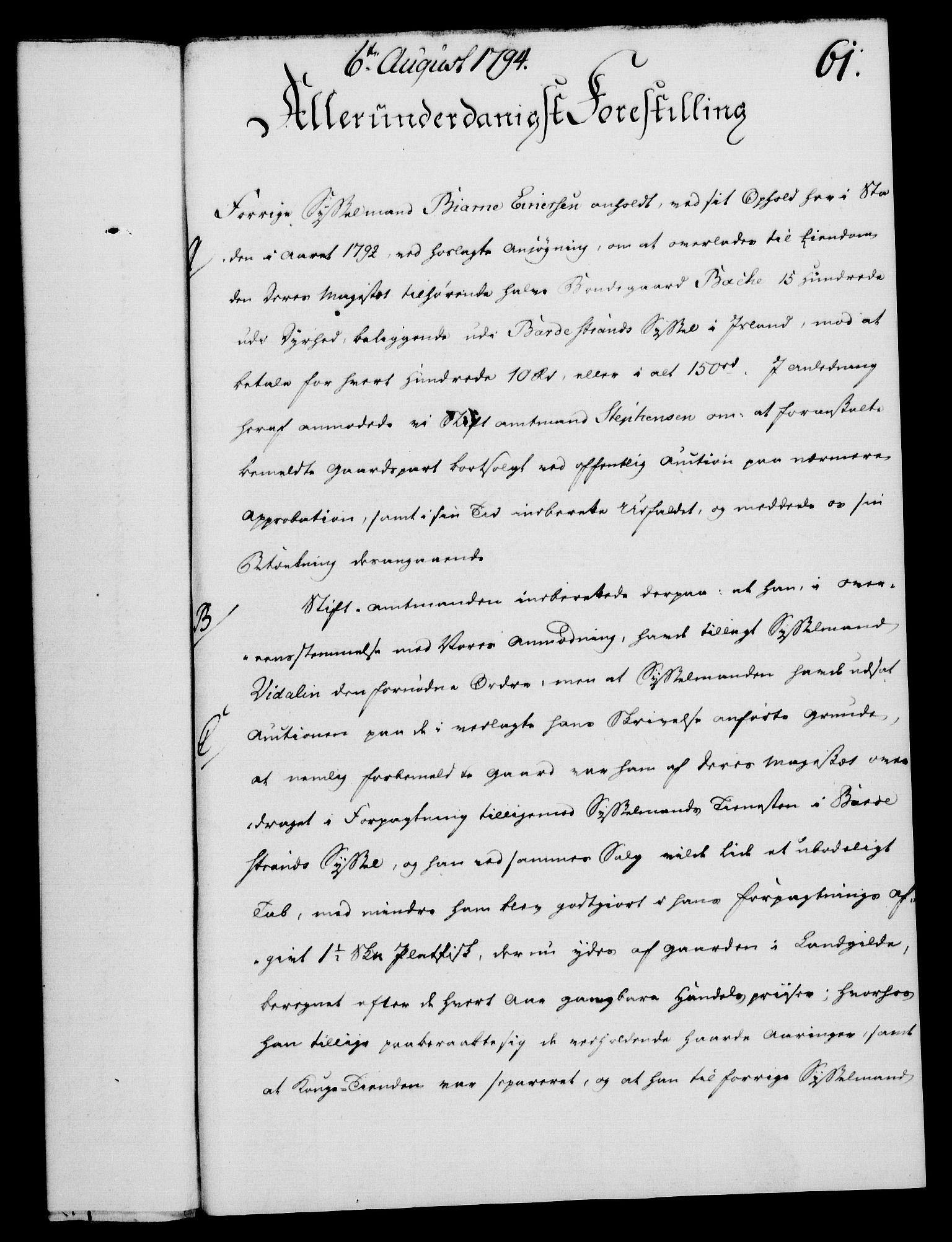 RA, Rentekammeret, Kammerkanselliet, G/Gf/Gfa/L0076: Norsk relasjons- og resolusjonsprotokoll (merket RK 52.76), 1794, s. 286