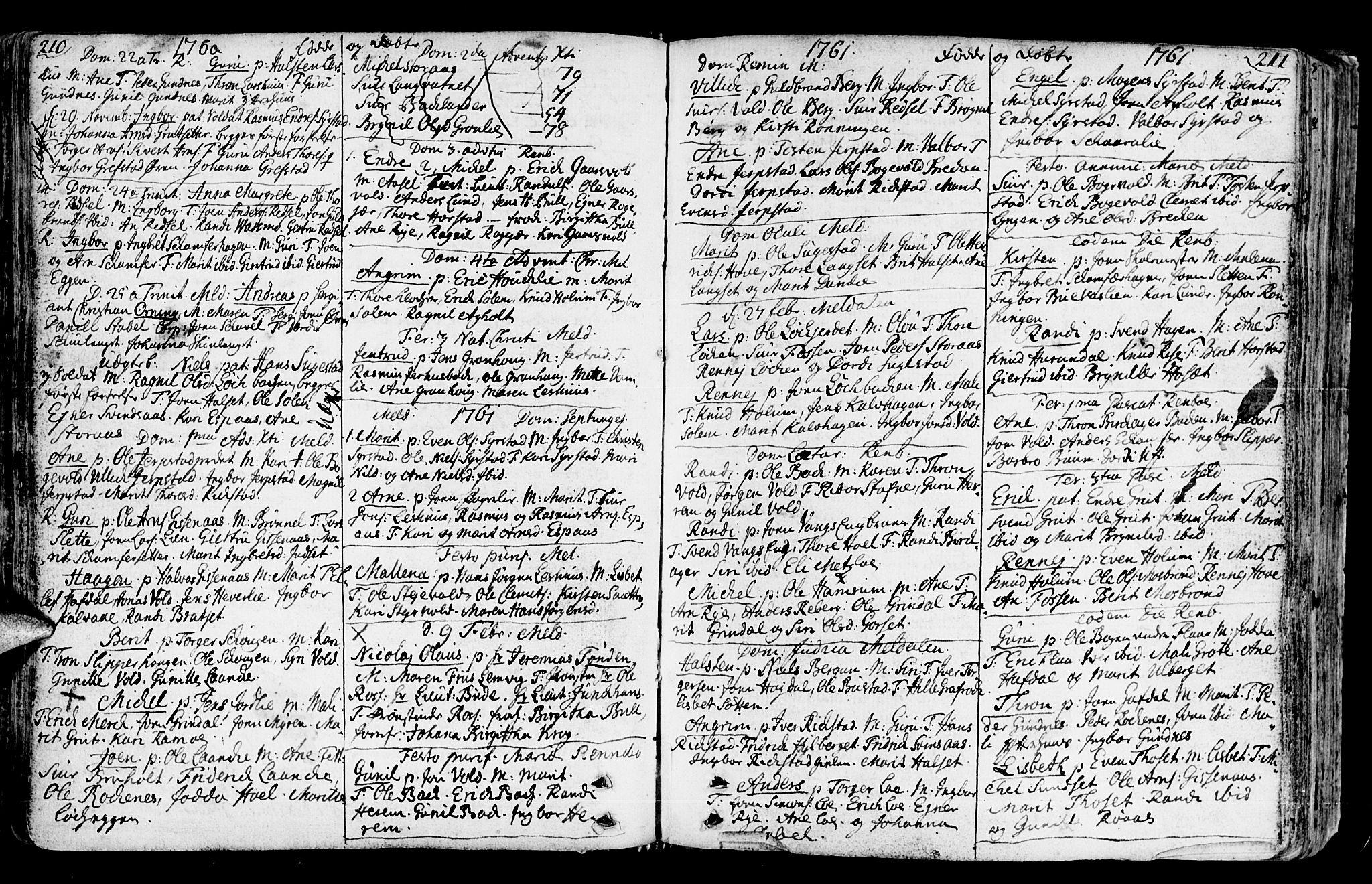 SAT, Ministerialprotokoller, klokkerbøker og fødselsregistre - Sør-Trøndelag, 672/L0851: Ministerialbok nr. 672A04, 1751-1775, s. 210-211