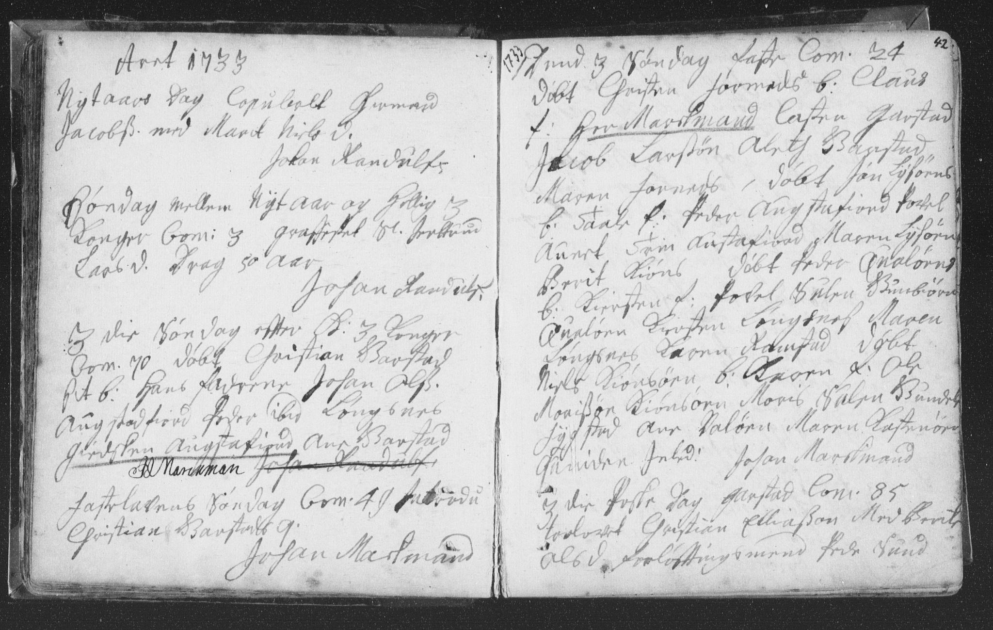 SAT, Ministerialprotokoller, klokkerbøker og fødselsregistre - Nord-Trøndelag, 786/L0685: Ministerialbok nr. 786A01, 1710-1798, s. 42