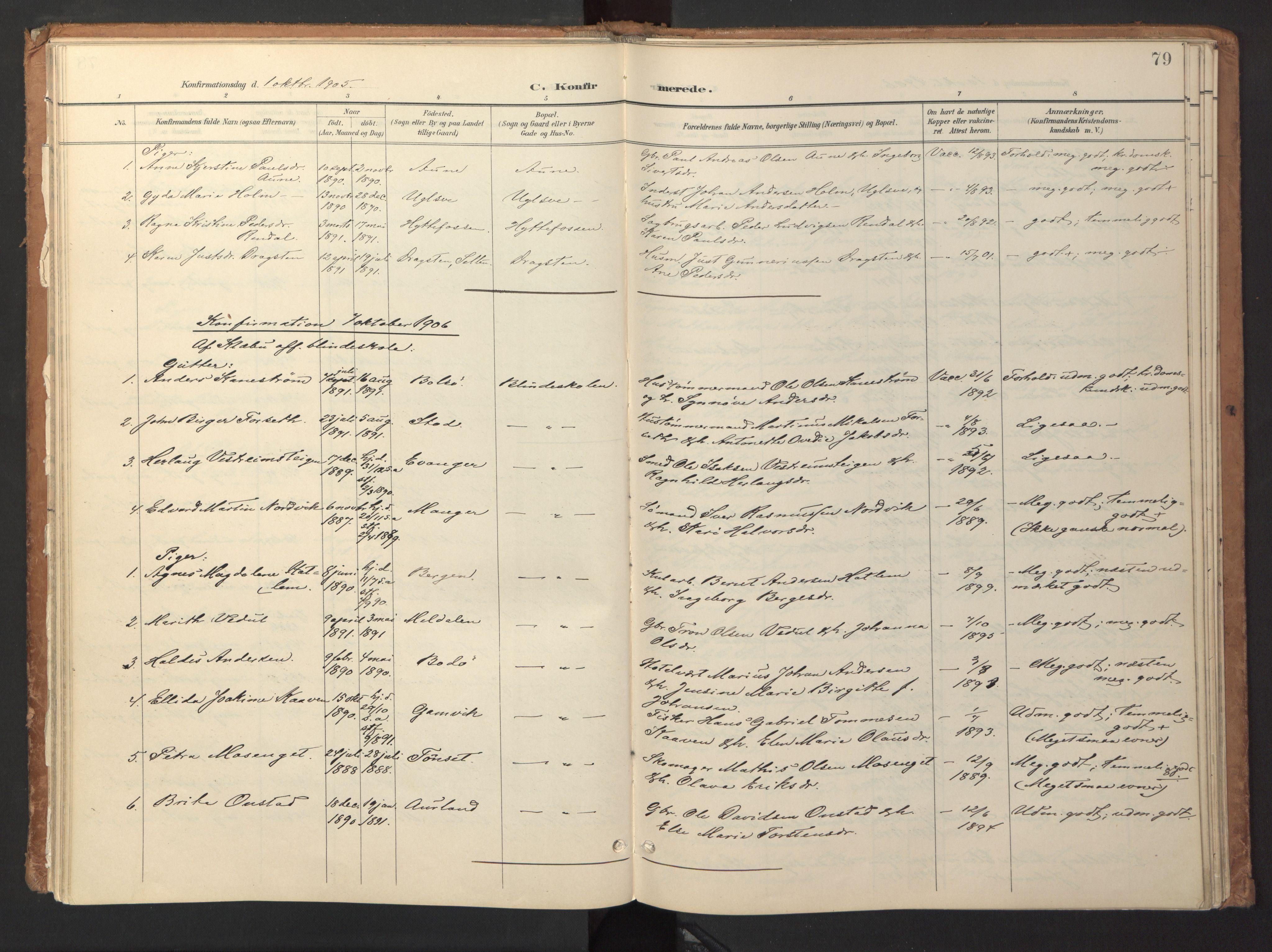 SAT, Ministerialprotokoller, klokkerbøker og fødselsregistre - Sør-Trøndelag, 618/L0448: Ministerialbok nr. 618A11, 1898-1916, s. 79