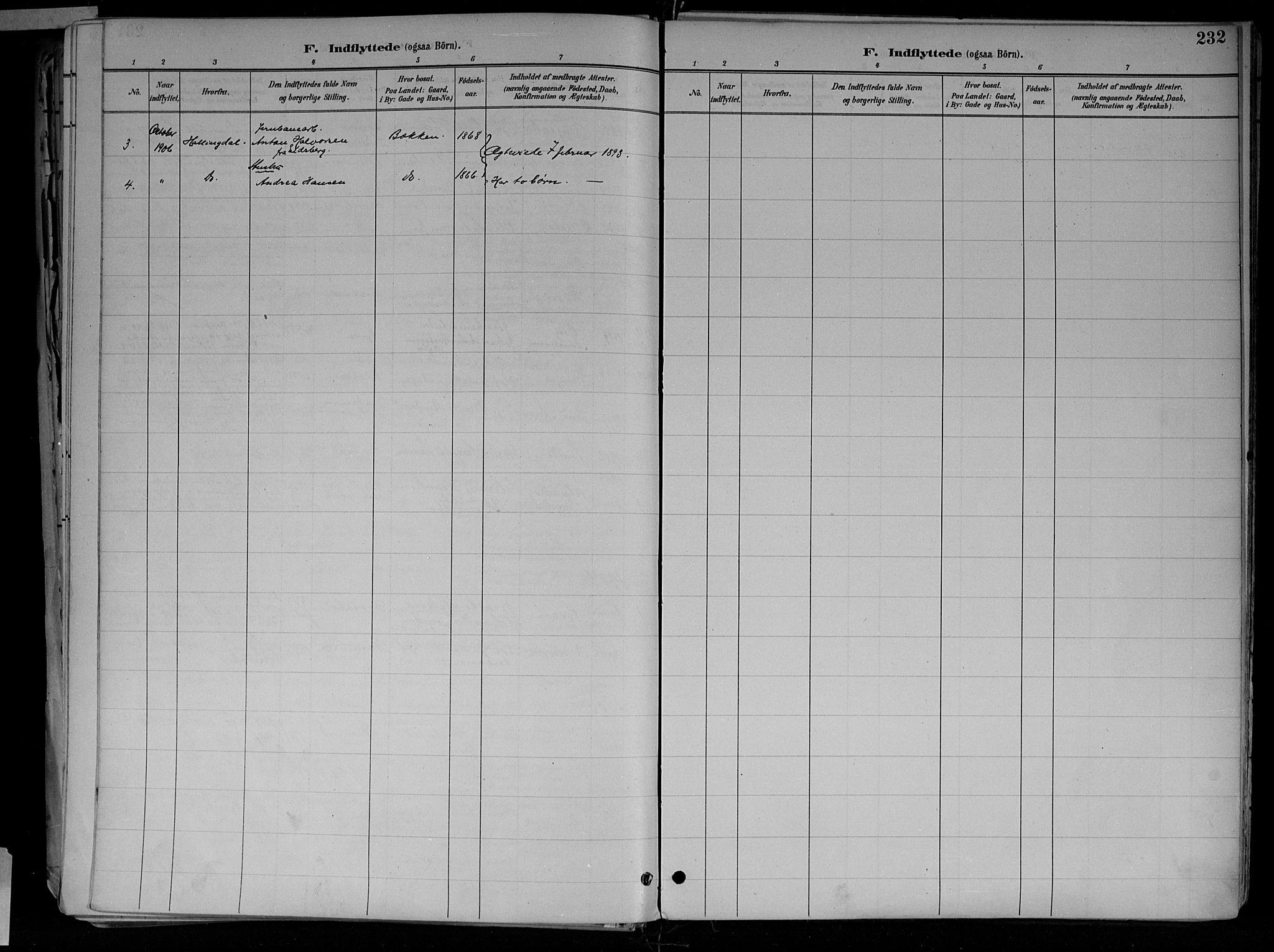 SAH, Jevnaker prestekontor, Ministerialbok nr. 10, 1891-1906, s. 232