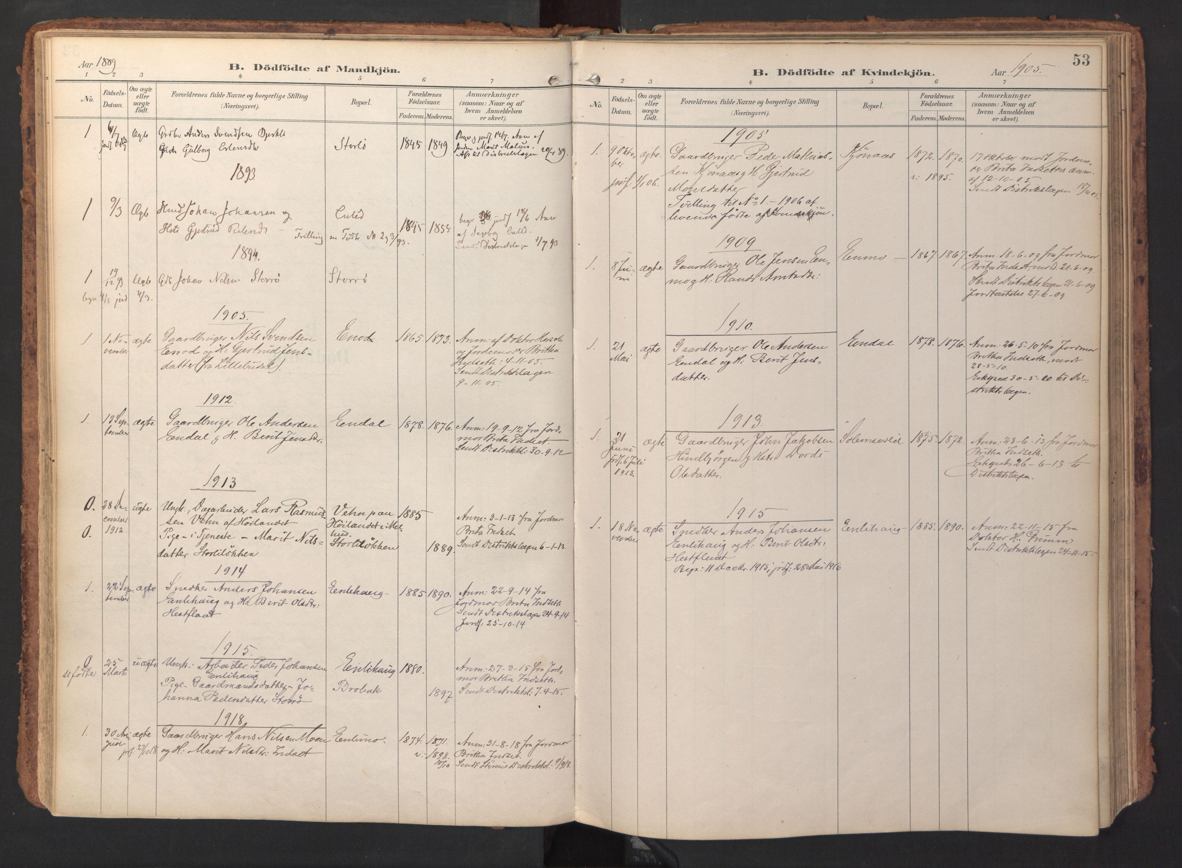 SAT, Ministerialprotokoller, klokkerbøker og fødselsregistre - Sør-Trøndelag, 690/L1050: Ministerialbok nr. 690A01, 1889-1929, s. 53