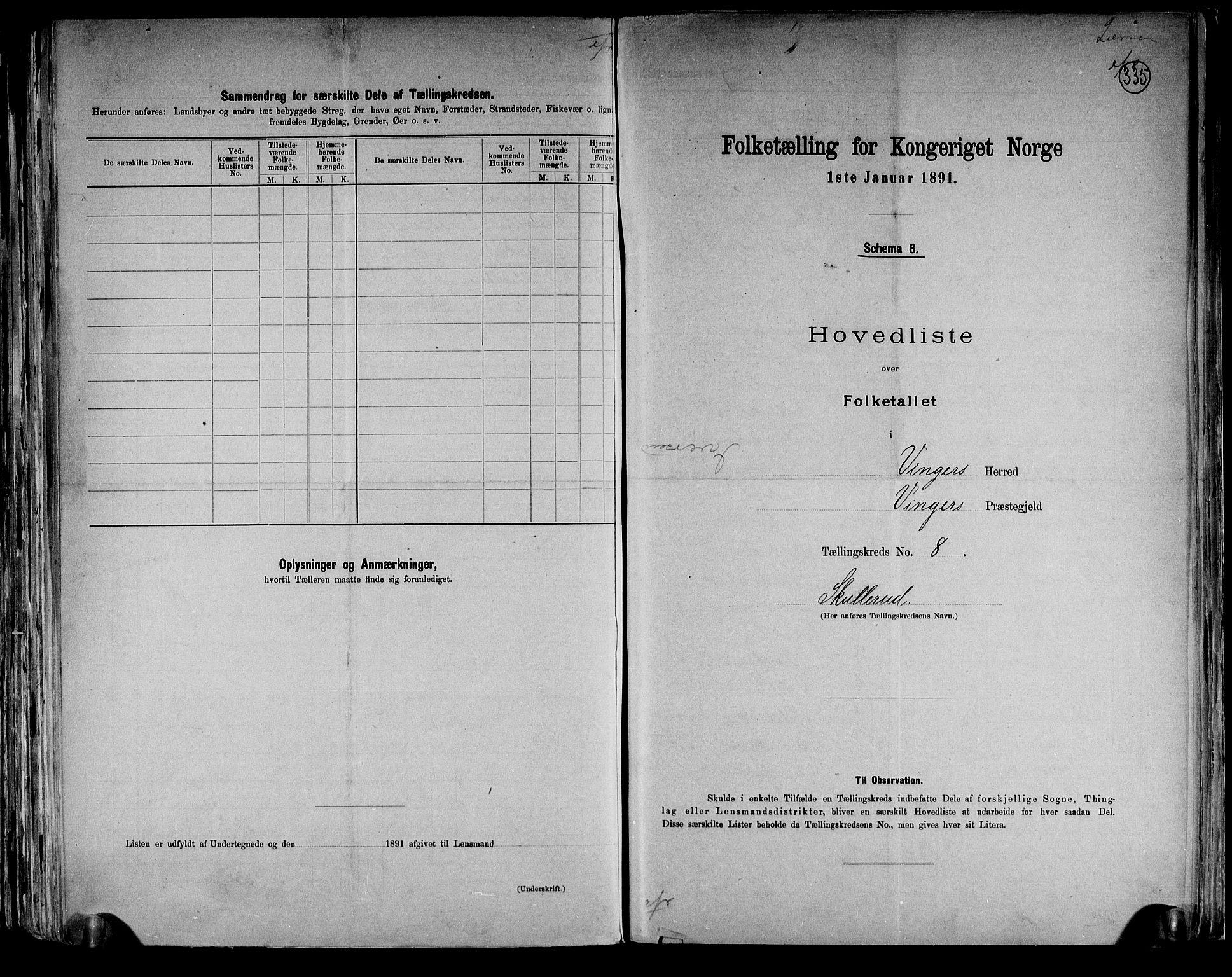 RA, Folketelling 1891 for 0421 Vinger herred, 1891, s. 18