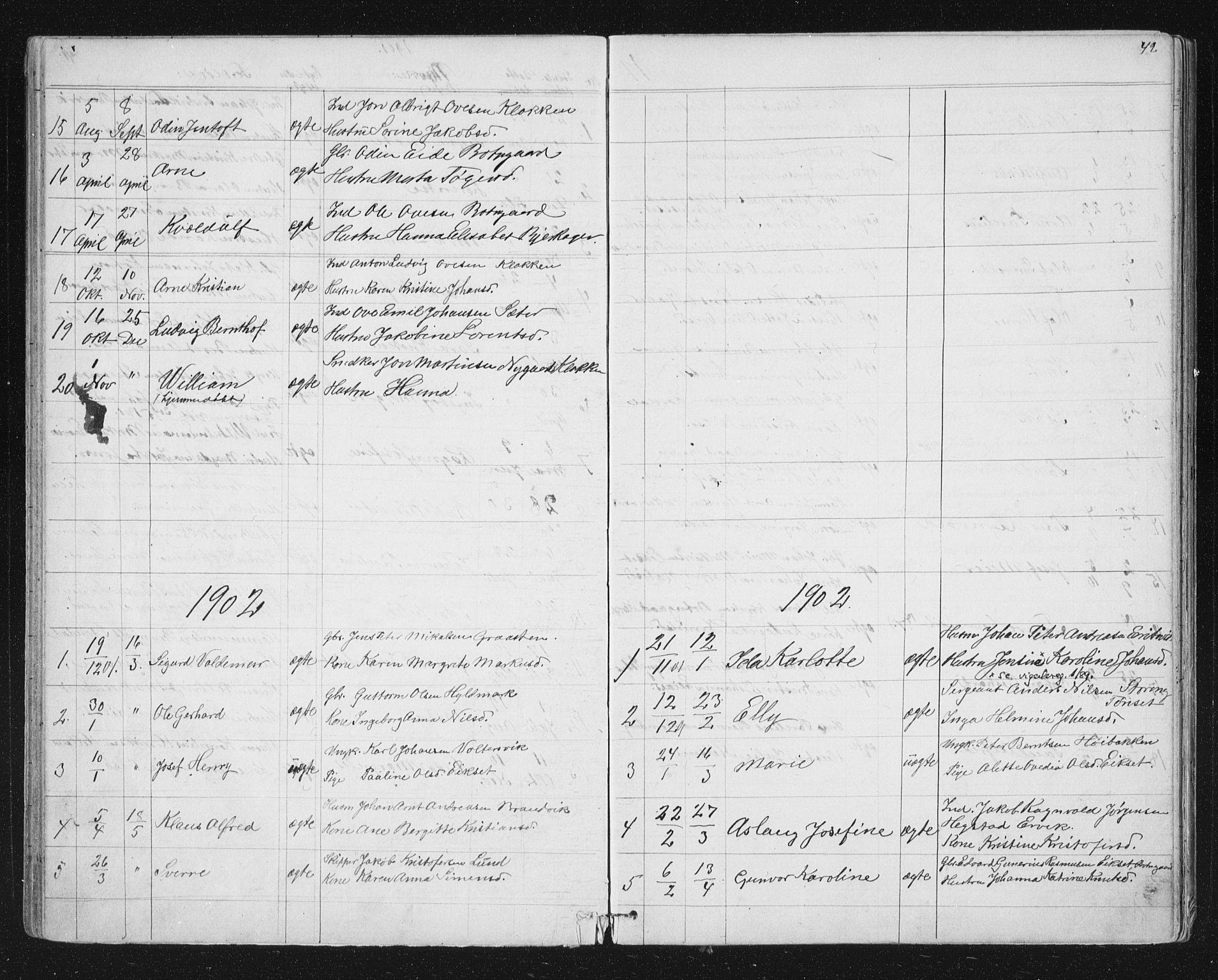 SAT, Ministerialprotokoller, klokkerbøker og fødselsregistre - Sør-Trøndelag, 651/L0647: Klokkerbok nr. 651C01, 1866-1914, s. 42