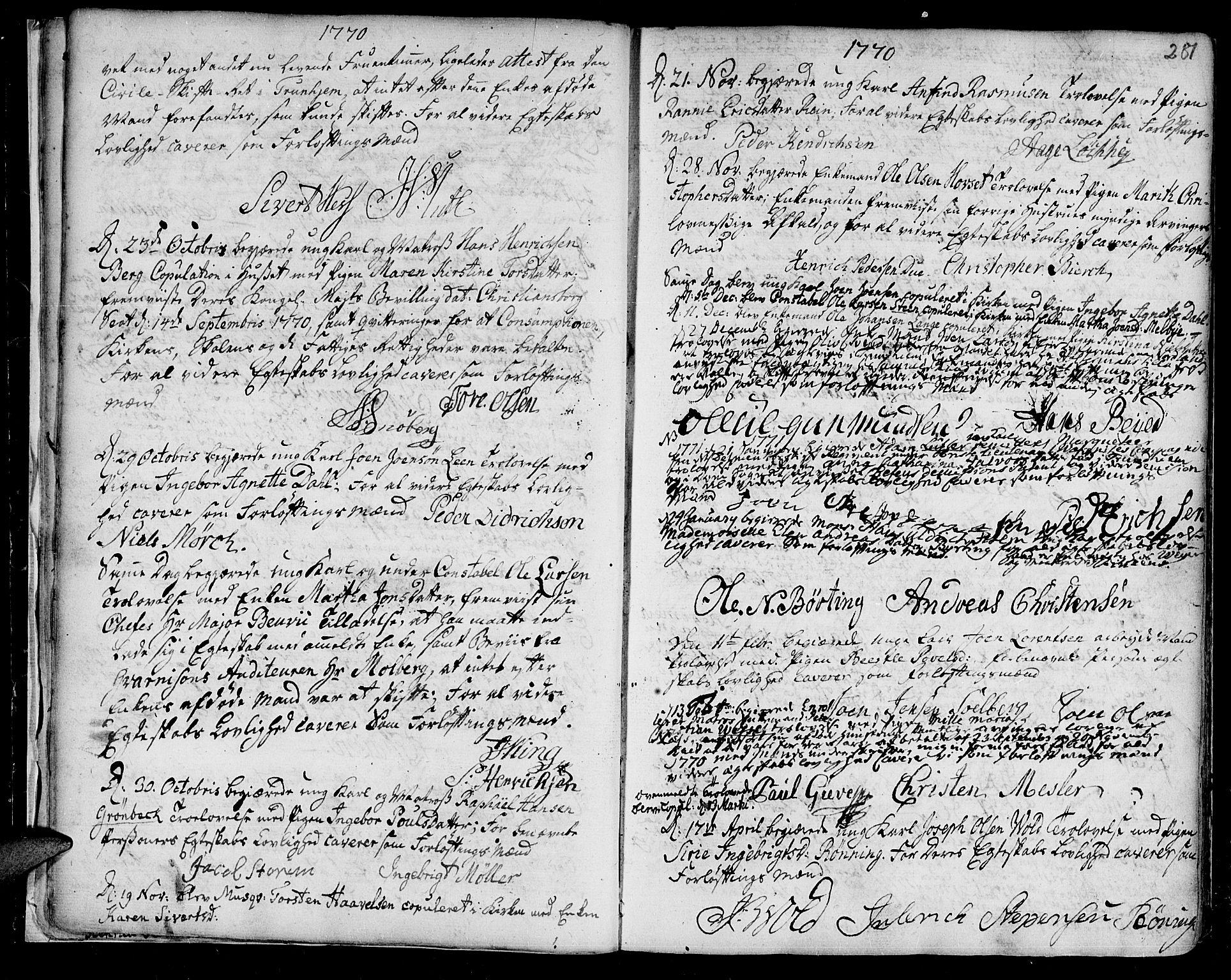 SAT, Ministerialprotokoller, klokkerbøker og fødselsregistre - Sør-Trøndelag, 601/L0038: Ministerialbok nr. 601A06, 1766-1877, s. 281