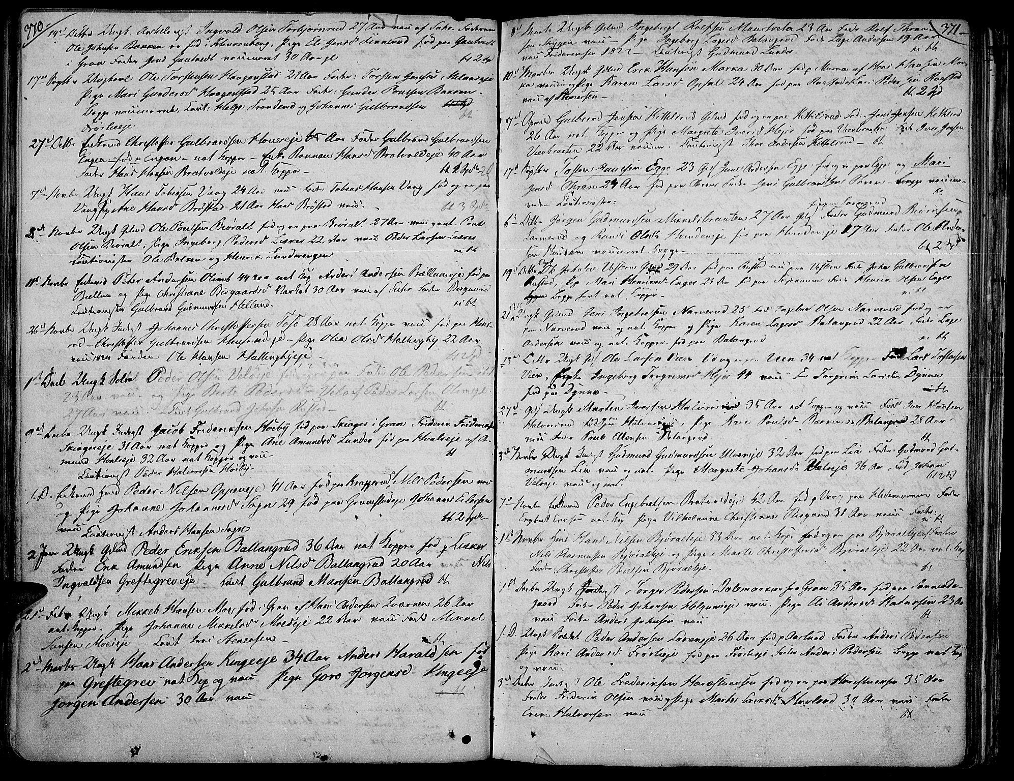 SAH, Jevnaker prestekontor, Ministerialbok nr. 4, 1800-1861, s. 370-371