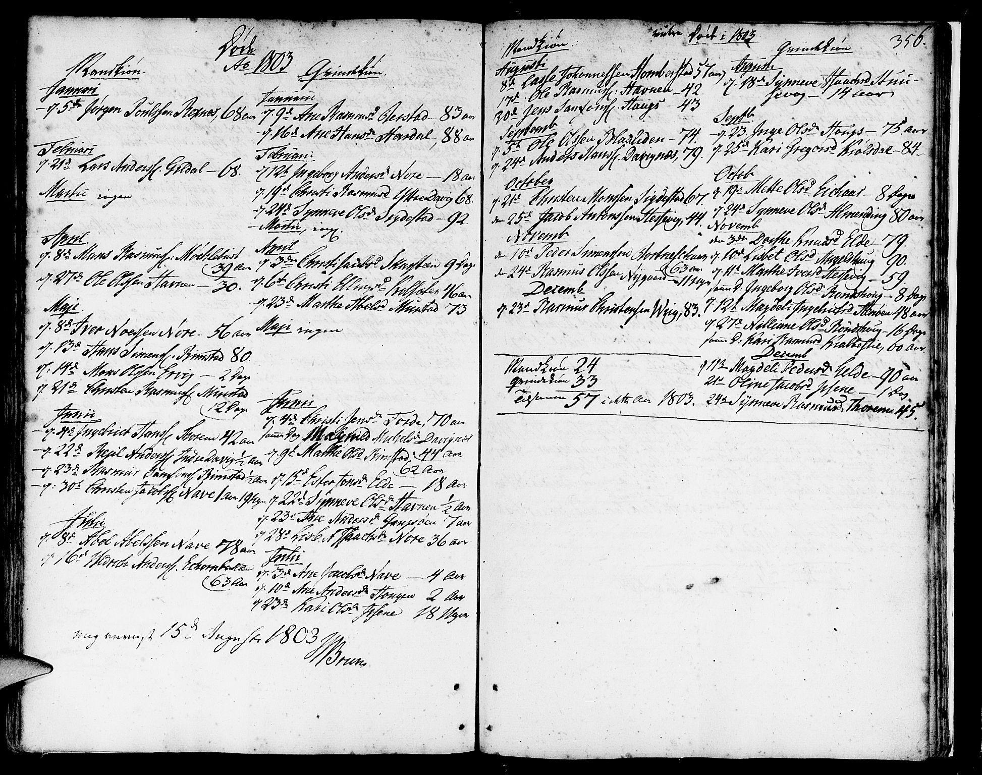 SAB, Davik Sokneprestembete, Ministerialbok nr. A 2, 1742-1816, s. 356