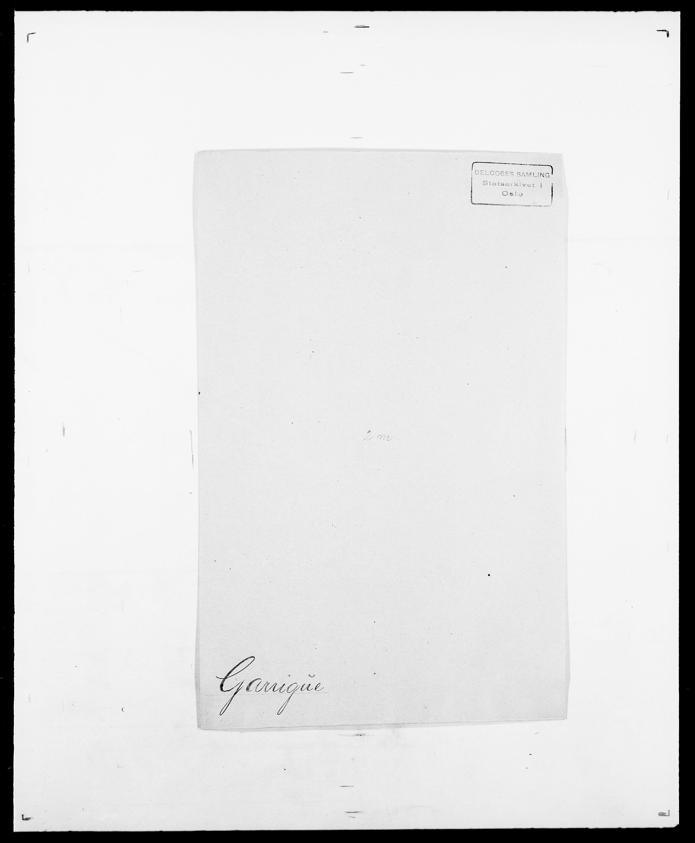 SAO, Delgobe, Charles Antoine - samling, D/Da/L0013: Forbos - Geving, s. 532