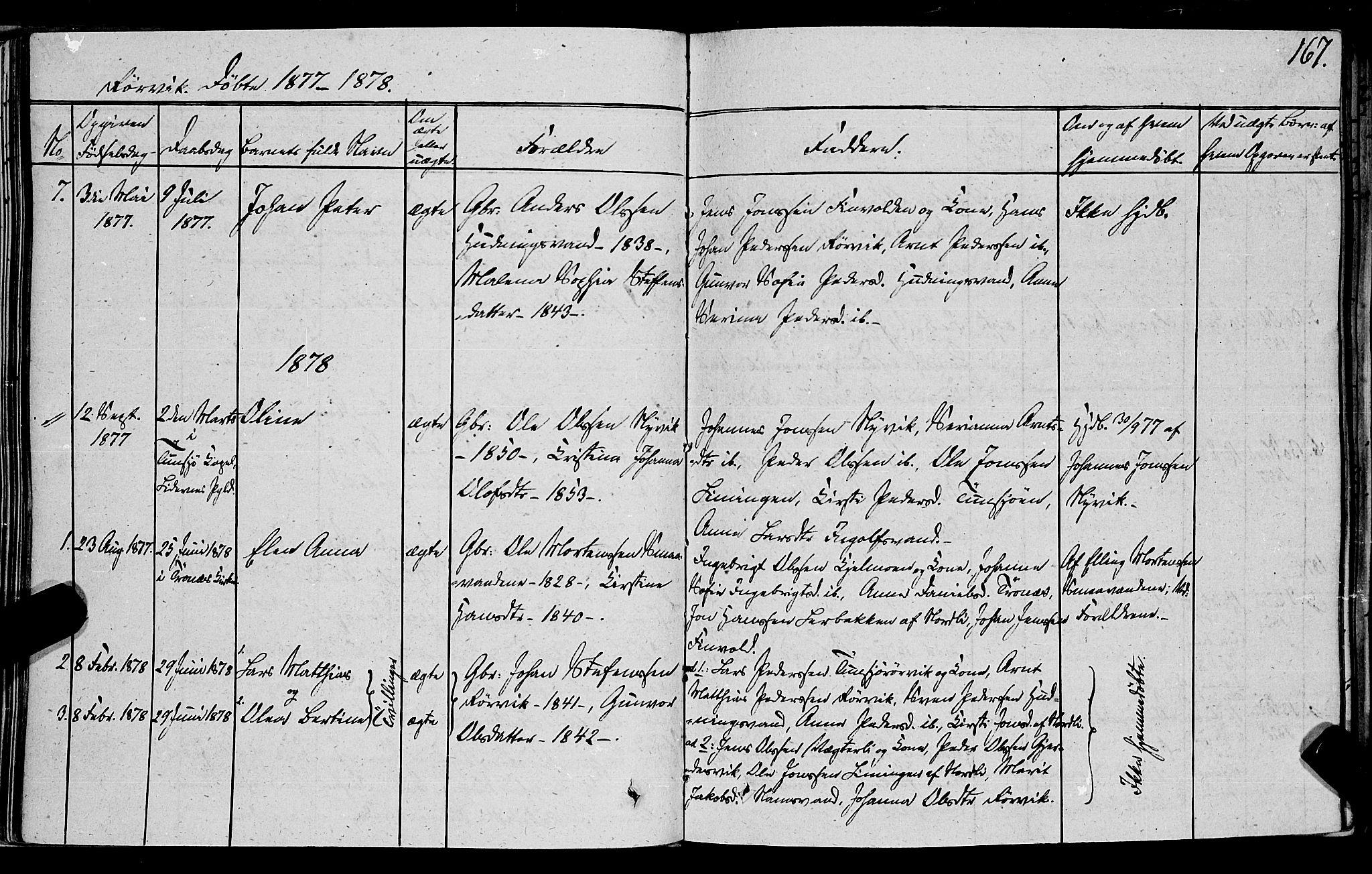 SAT, Ministerialprotokoller, klokkerbøker og fødselsregistre - Nord-Trøndelag, 762/L0538: Ministerialbok nr. 762A02 /1, 1833-1879, s. 167