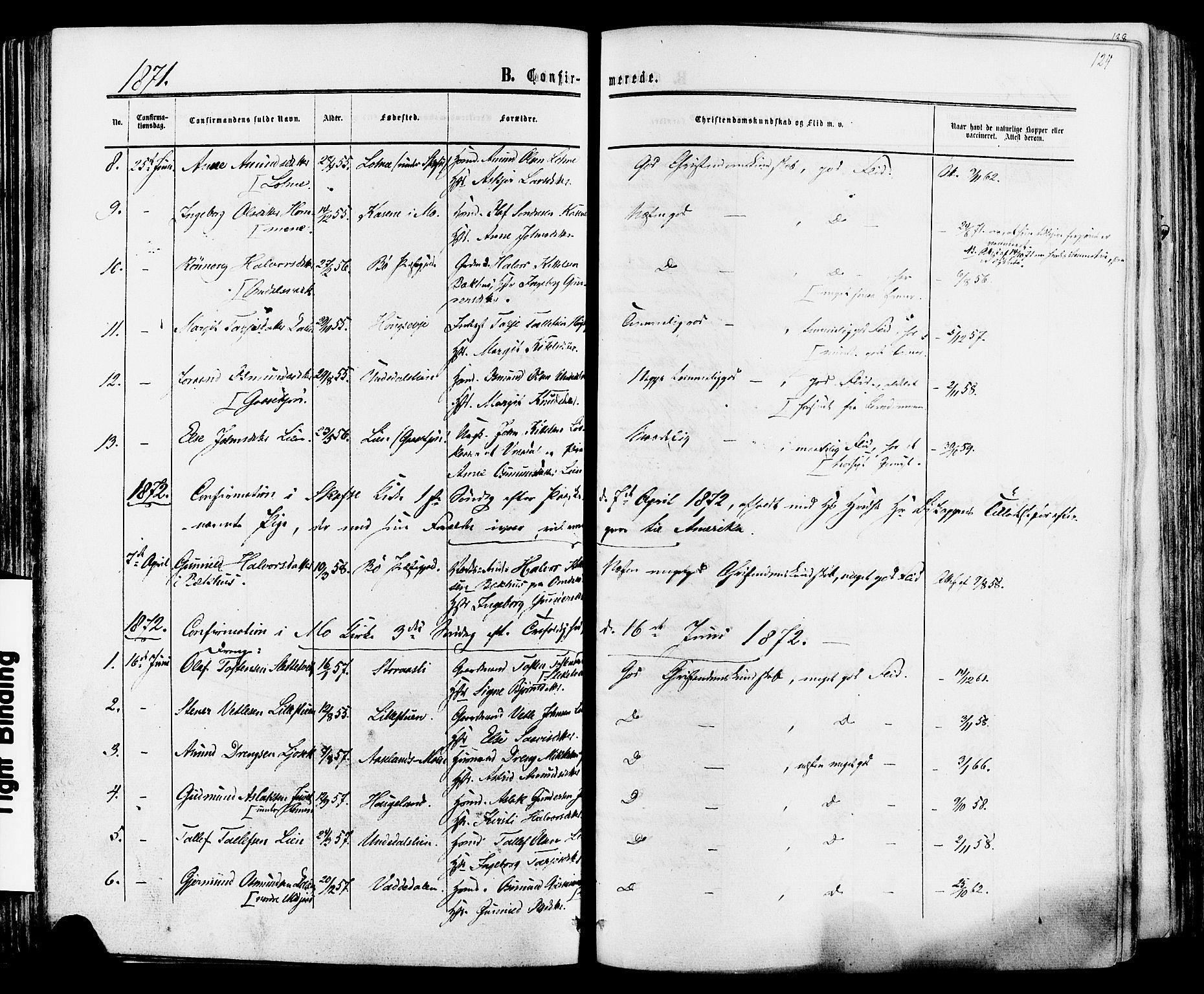 SAKO, Mo kirkebøker, F/Fa/L0006: Ministerialbok nr. I 6, 1865-1885, s. 124