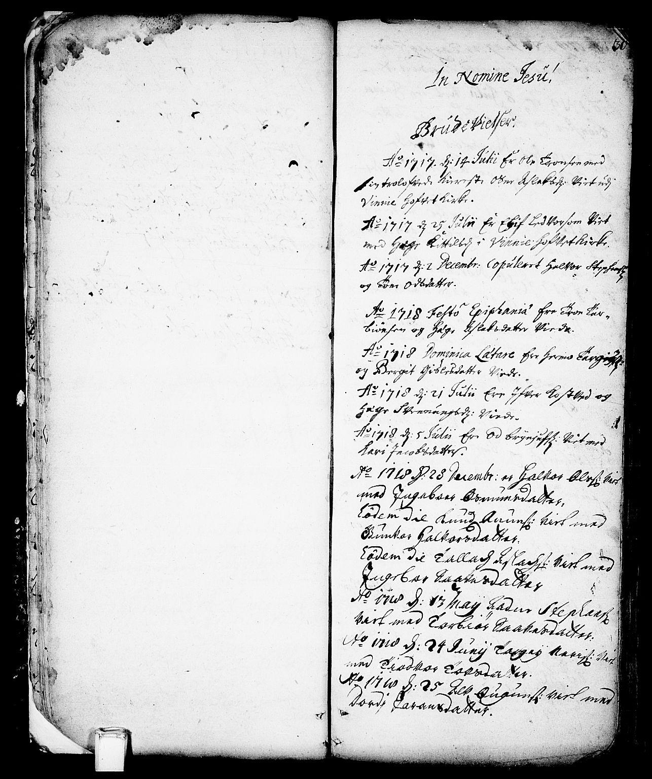 SAKO, Vinje kirkebøker, F/Fa/L0001: Ministerialbok nr. I 1, 1717-1766, s. 30