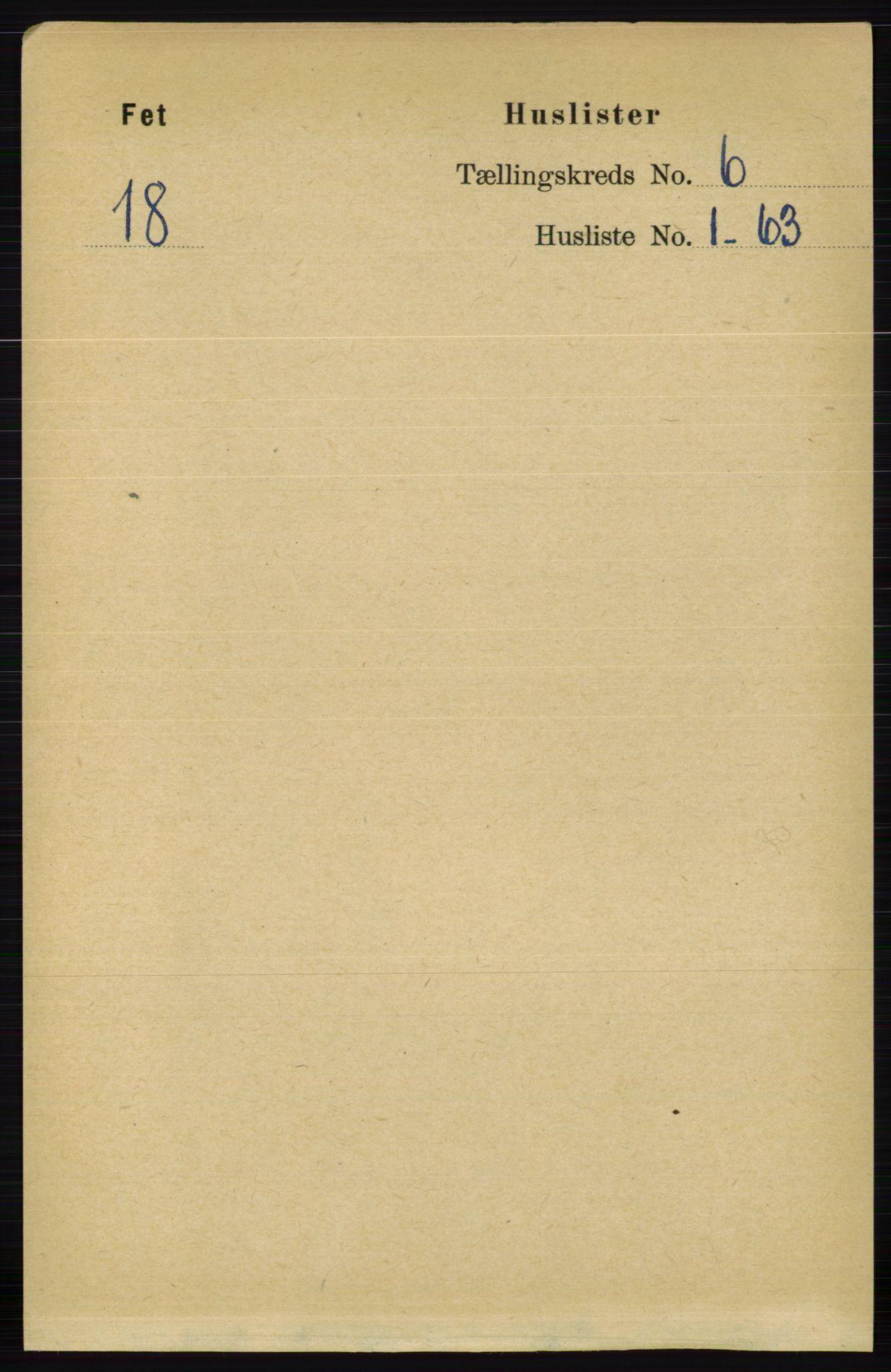 RA, Folketelling 1891 for 0227 Fet herred, 1891, s. 1870