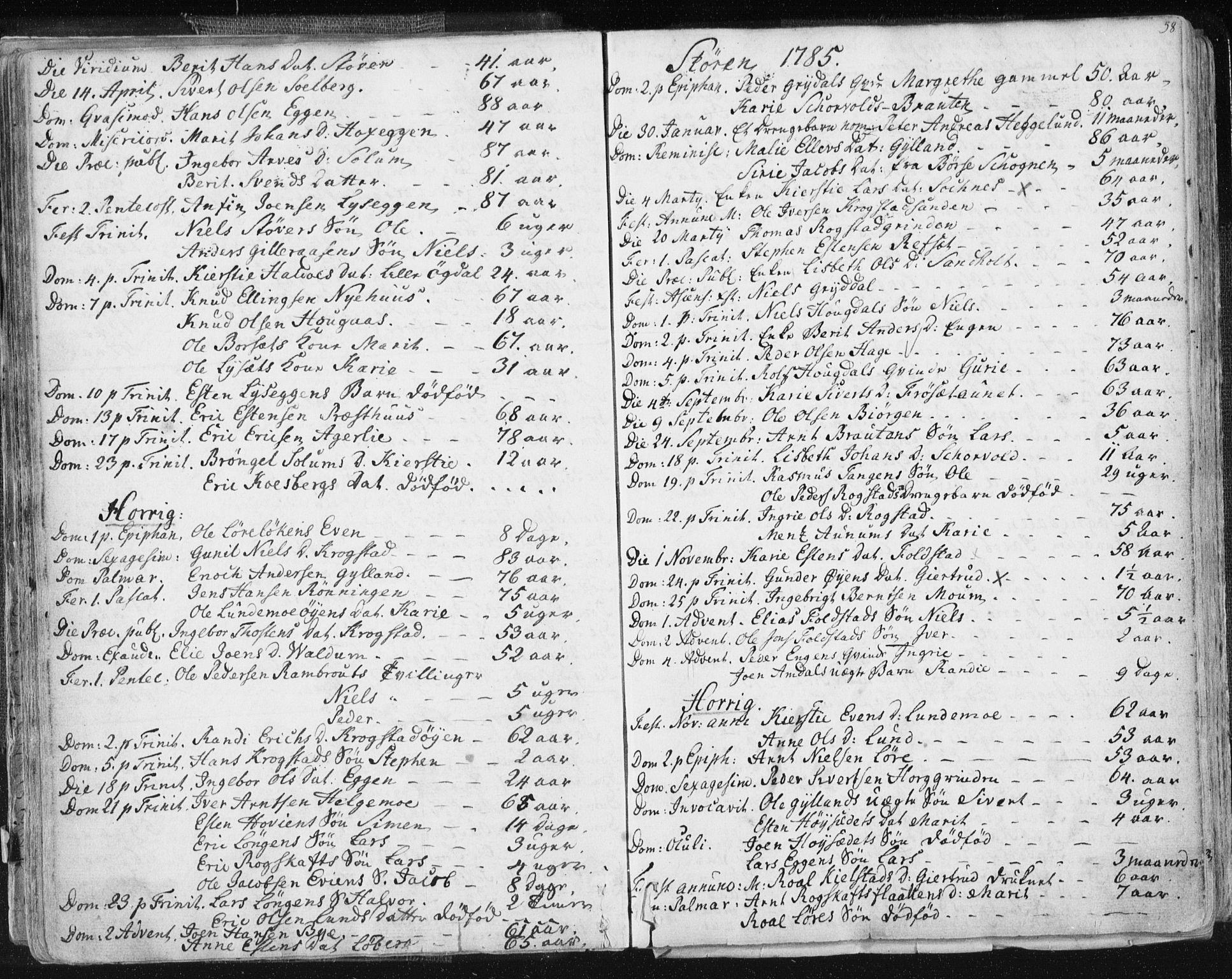 SAT, Ministerialprotokoller, klokkerbøker og fødselsregistre - Sør-Trøndelag, 687/L0991: Ministerialbok nr. 687A02, 1747-1790, s. 58
