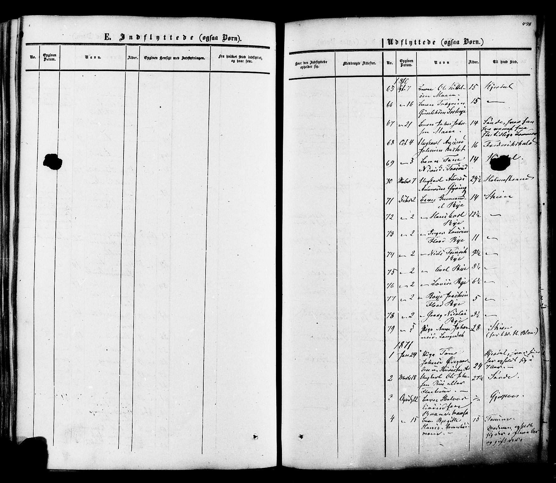 SAKO, Heddal kirkebøker, F/Fa/L0007: Ministerialbok nr. I 7, 1855-1877, s. 478