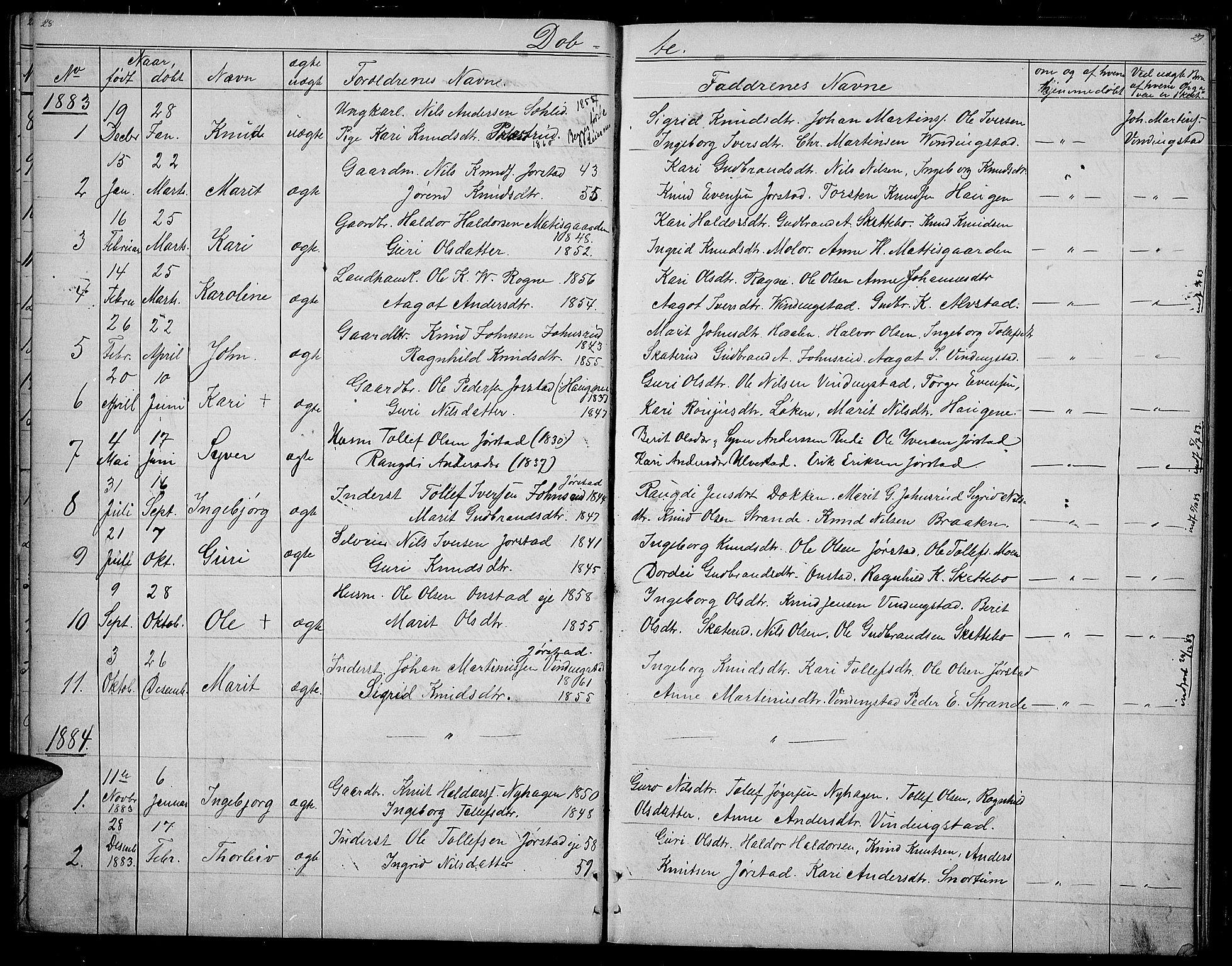 SAH, Øystre Slidre prestekontor, Klokkerbok nr. 2, 1866-1886, s. 28-29