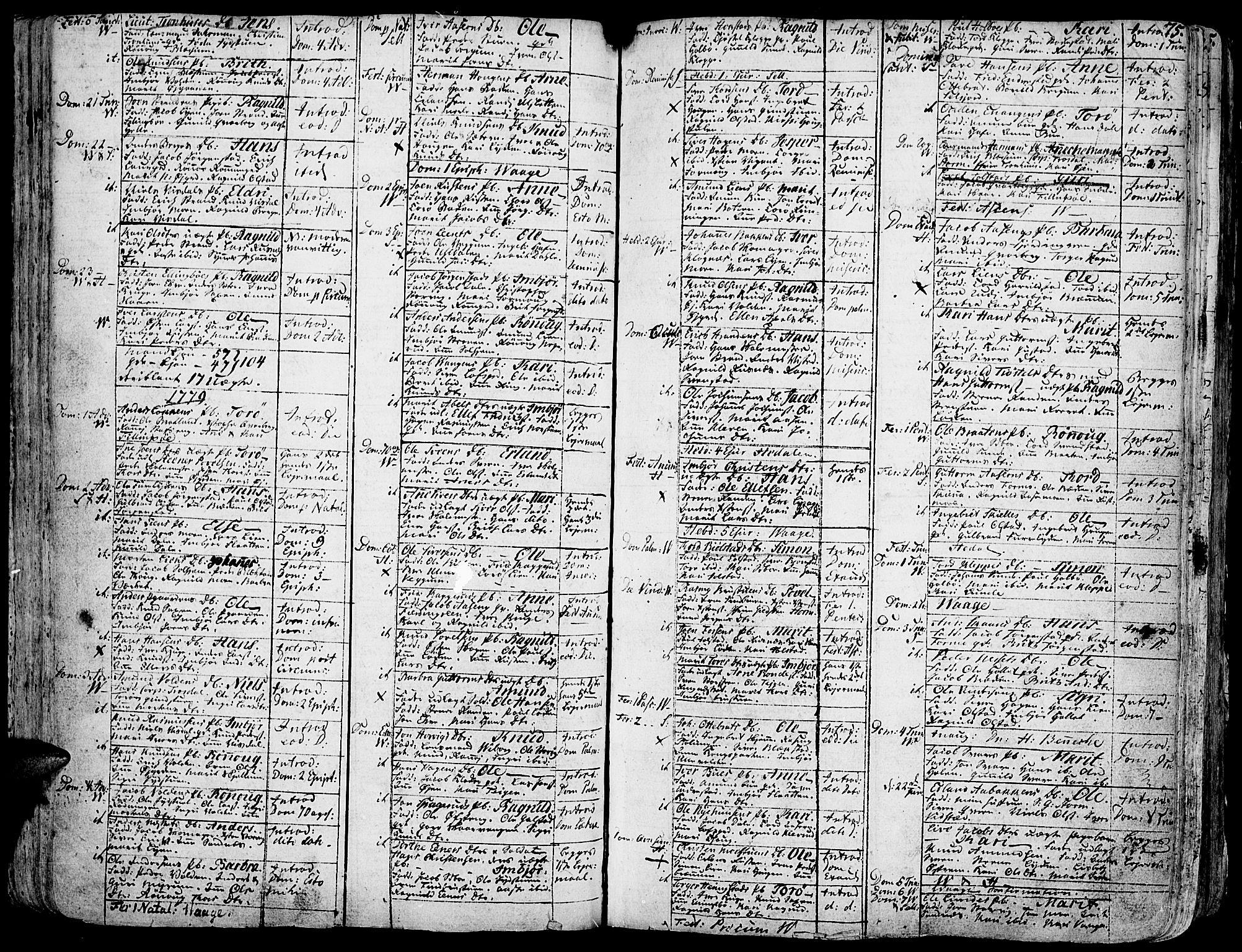 SAH, Vågå prestekontor, Ministerialbok nr. 1, 1739-1810, s. 75