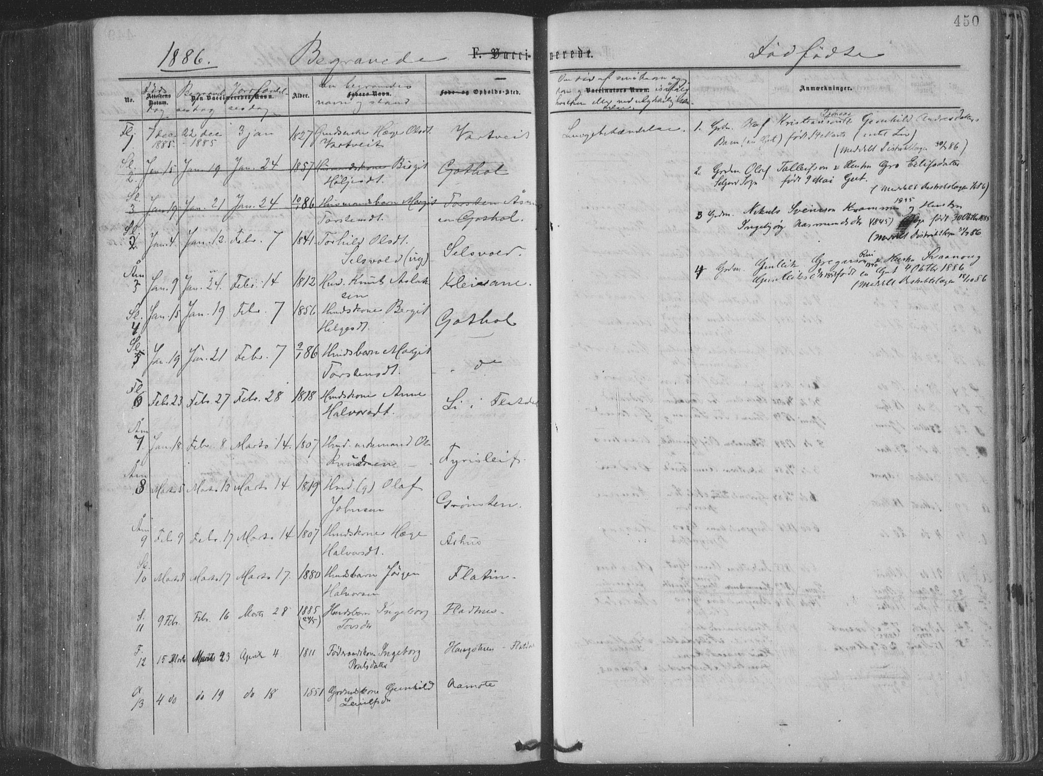 SAKO, Seljord kirkebøker, F/Fa/L0014: Ministerialbok nr. I 14, 1877-1886, s. 450