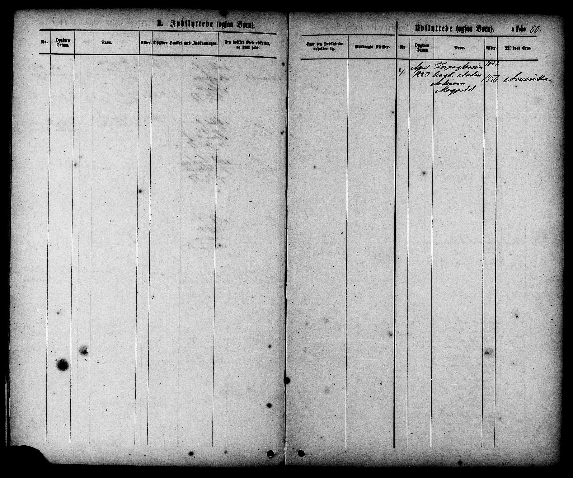 SAT, Ministerialprotokoller, klokkerbøker og fødselsregistre - Sør-Trøndelag, 608/L0334: Ministerialbok nr. 608A03, 1877-1886, s. 80