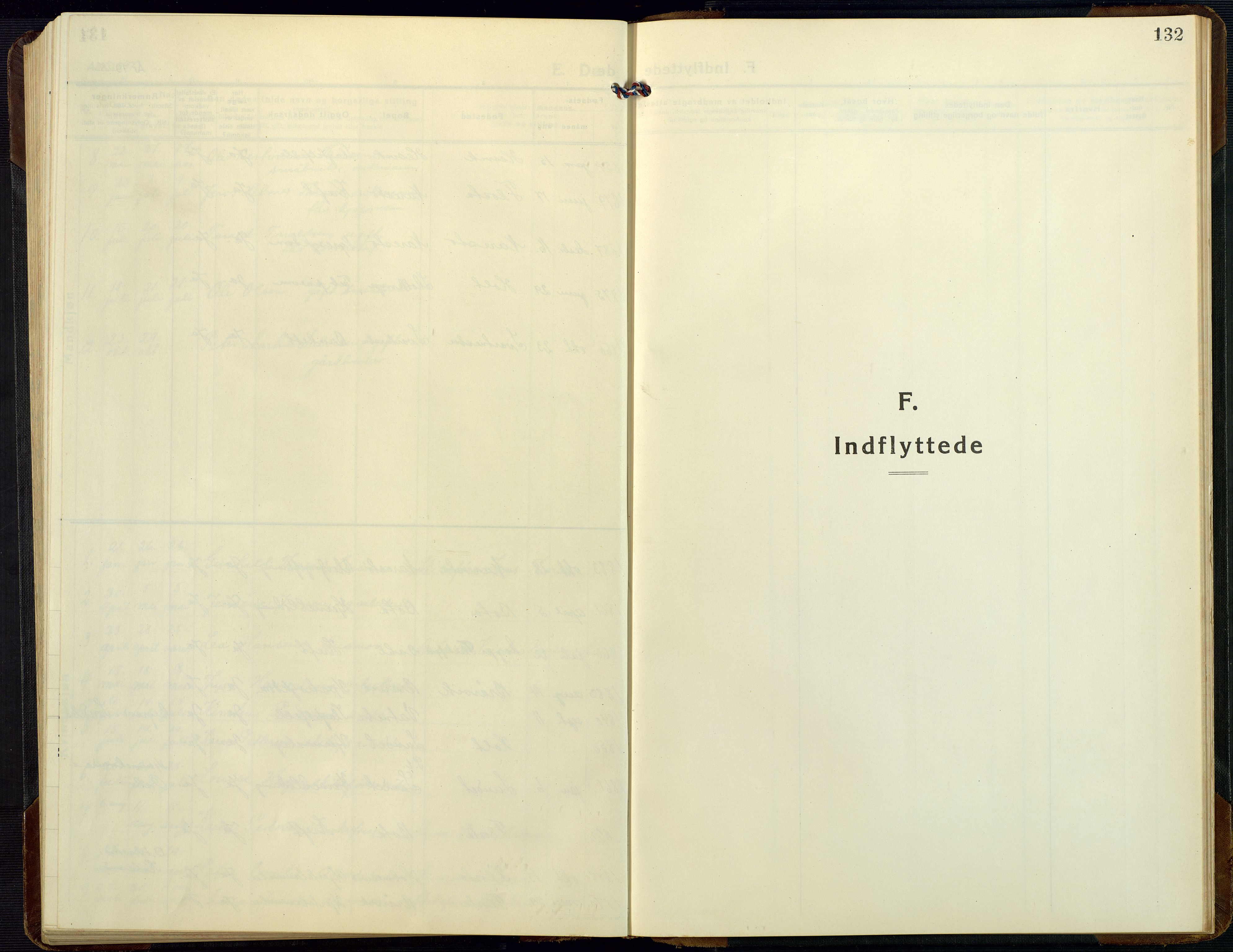 SAK, Dypvåg sokneprestkontor, F/Fb/Fbb/L0006: Klokkerbok nr. B 6, 1925-1954, s. 132