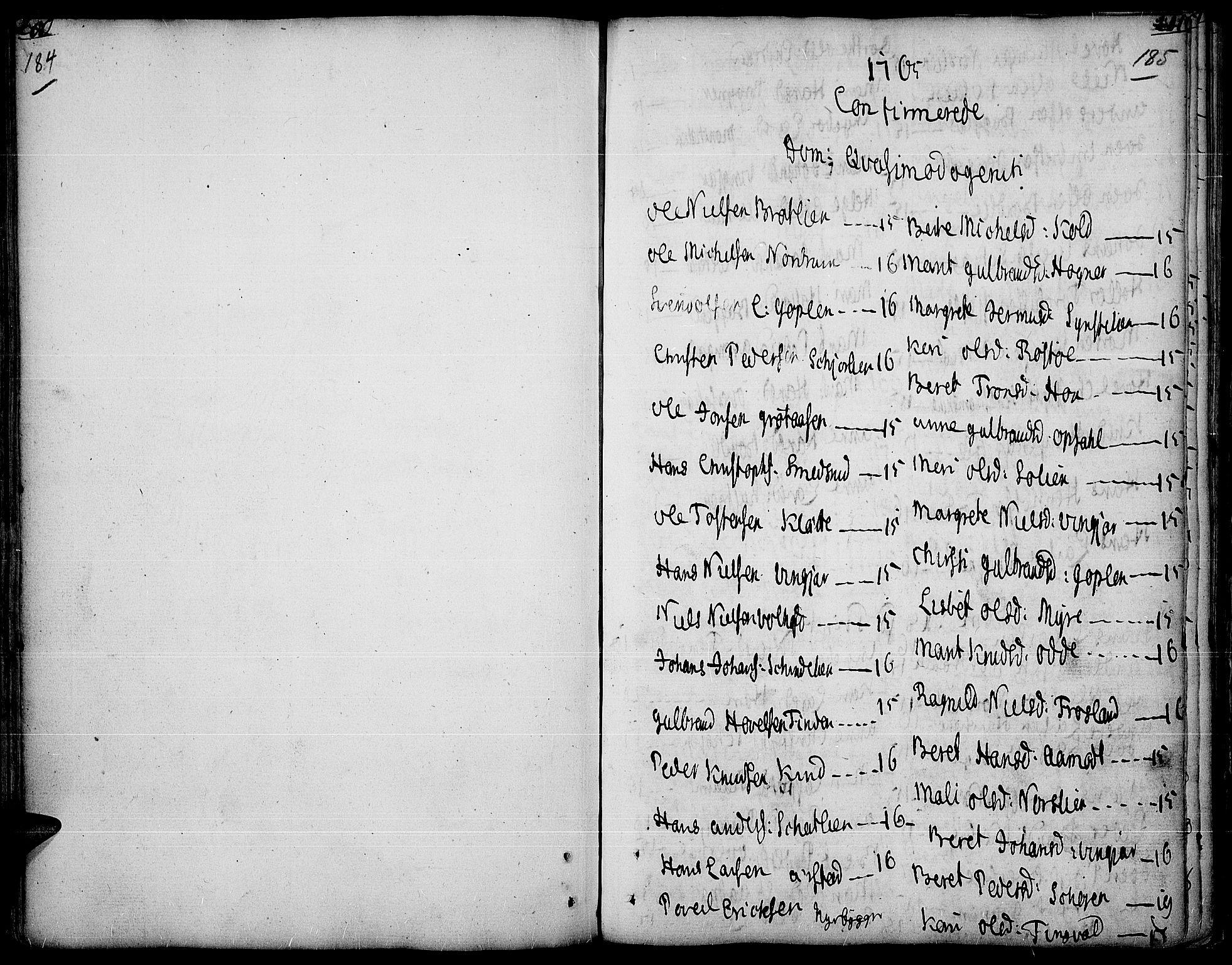 SAH, Land prestekontor, Ministerialbok nr. 5, 1765-1784, s. 184-185