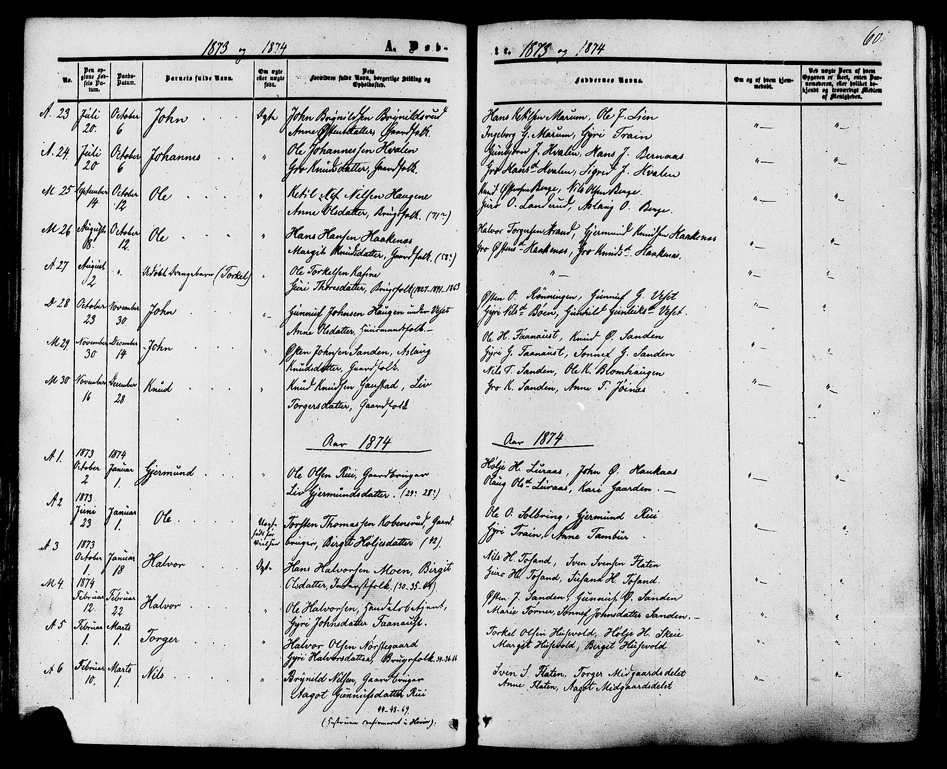 SAKO, Tinn kirkebøker, F/Fa/L0006: Ministerialbok nr. I 6, 1857-1878, s. 60