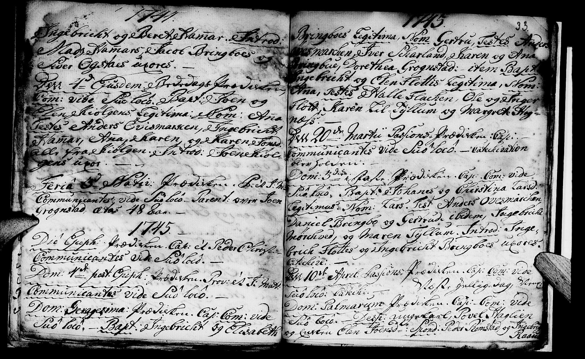 SAT, Ministerialprotokoller, klokkerbøker og fødselsregistre - Nord-Trøndelag, 765/L0560: Ministerialbok nr. 765A01, 1706-1748, s. 33