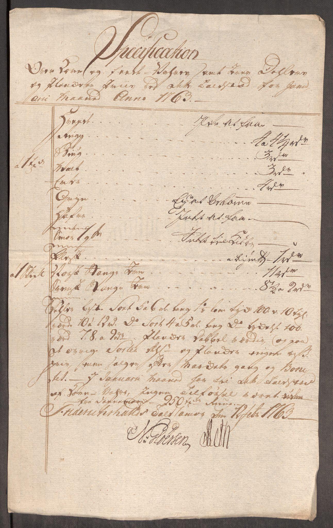 RA, Rentekammeret inntil 1814, Realistisk ordnet avdeling, Oe/L0007: [Ø1]: Priskuranter, 1761-1763, s. 528