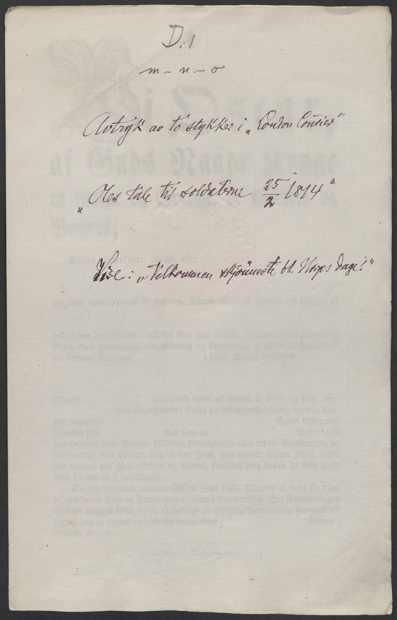 RA, Christie, Wilhelm Frimann Koren, F/L0004, 1814, s. 141