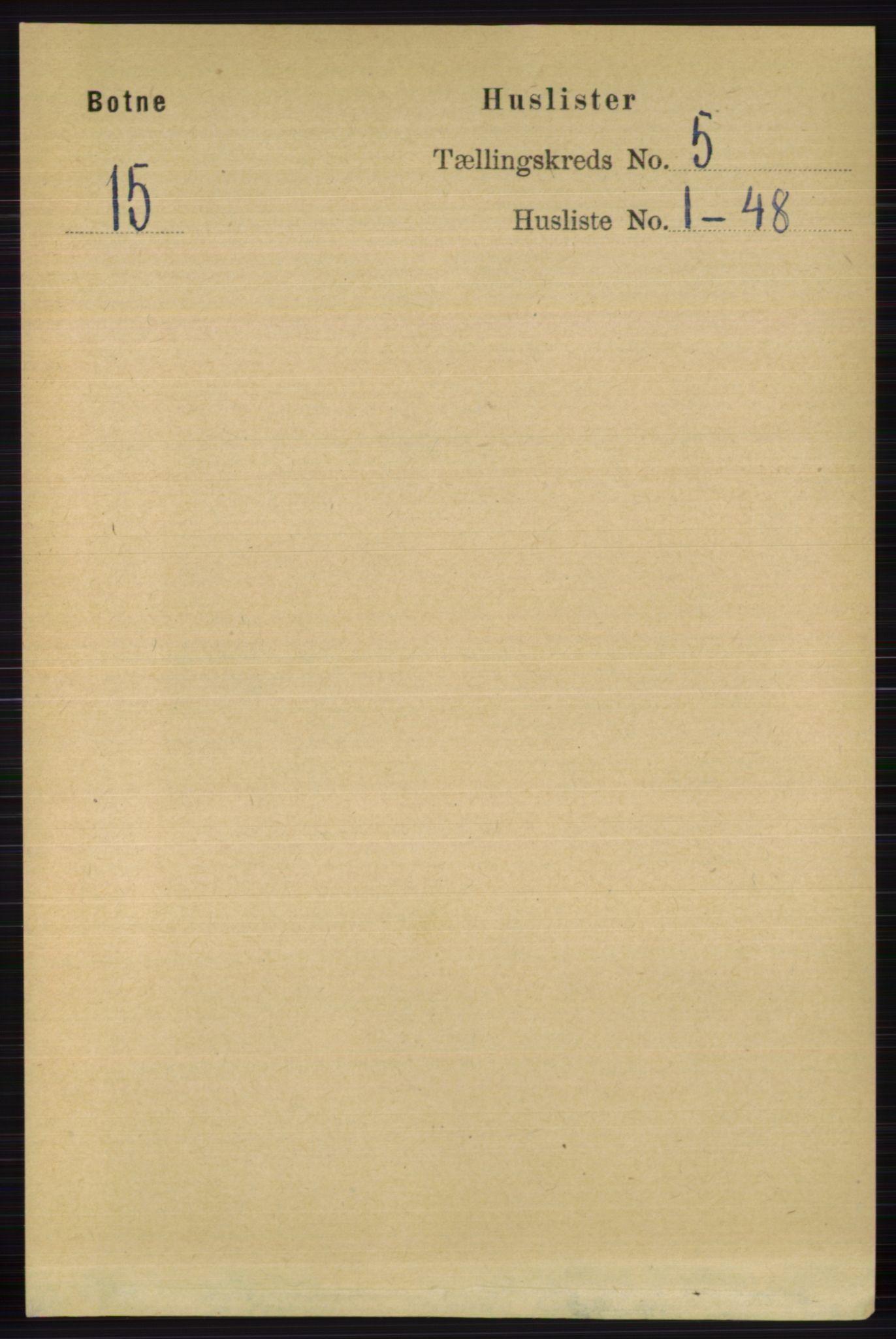 RA, Folketelling 1891 for 0715 Botne herred, 1891, s. 1898