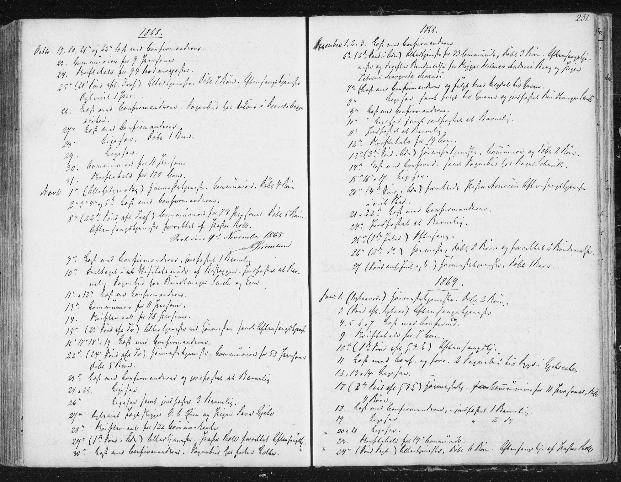 SAT, Ministerialprotokoller, klokkerbøker og fødselsregistre - Sør-Trøndelag, 602/L0127: Residerende kapellans bok nr. 602B01, 1821-1875, s. 251