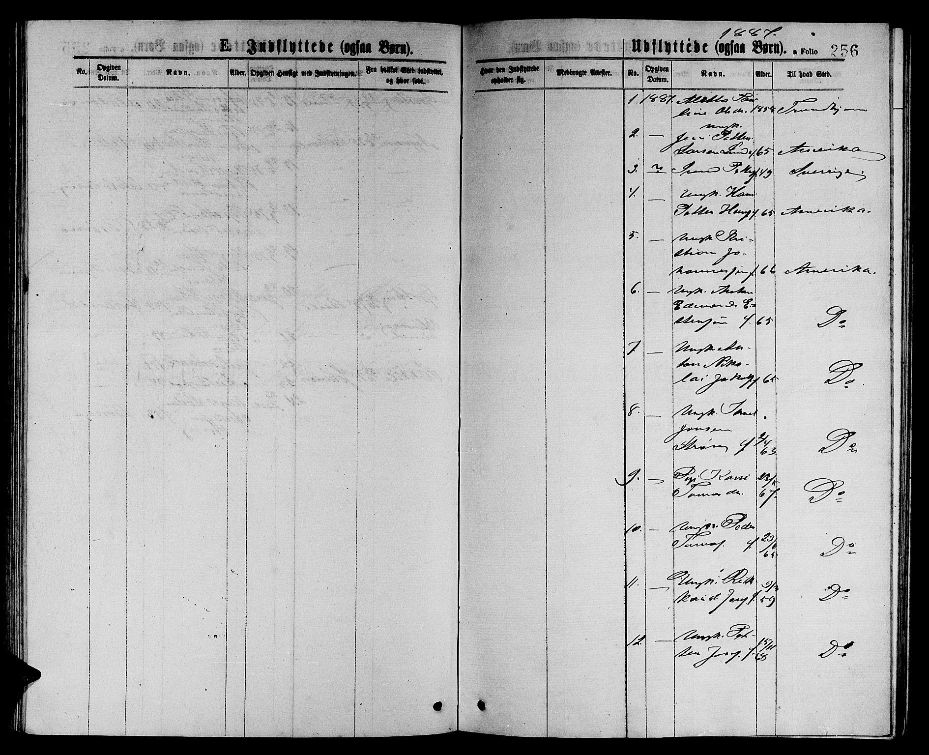 SAT, Ministerialprotokoller, klokkerbøker og fødselsregistre - Sør-Trøndelag, 657/L0715: Klokkerbok nr. 657C02, 1873-1888, s. 256