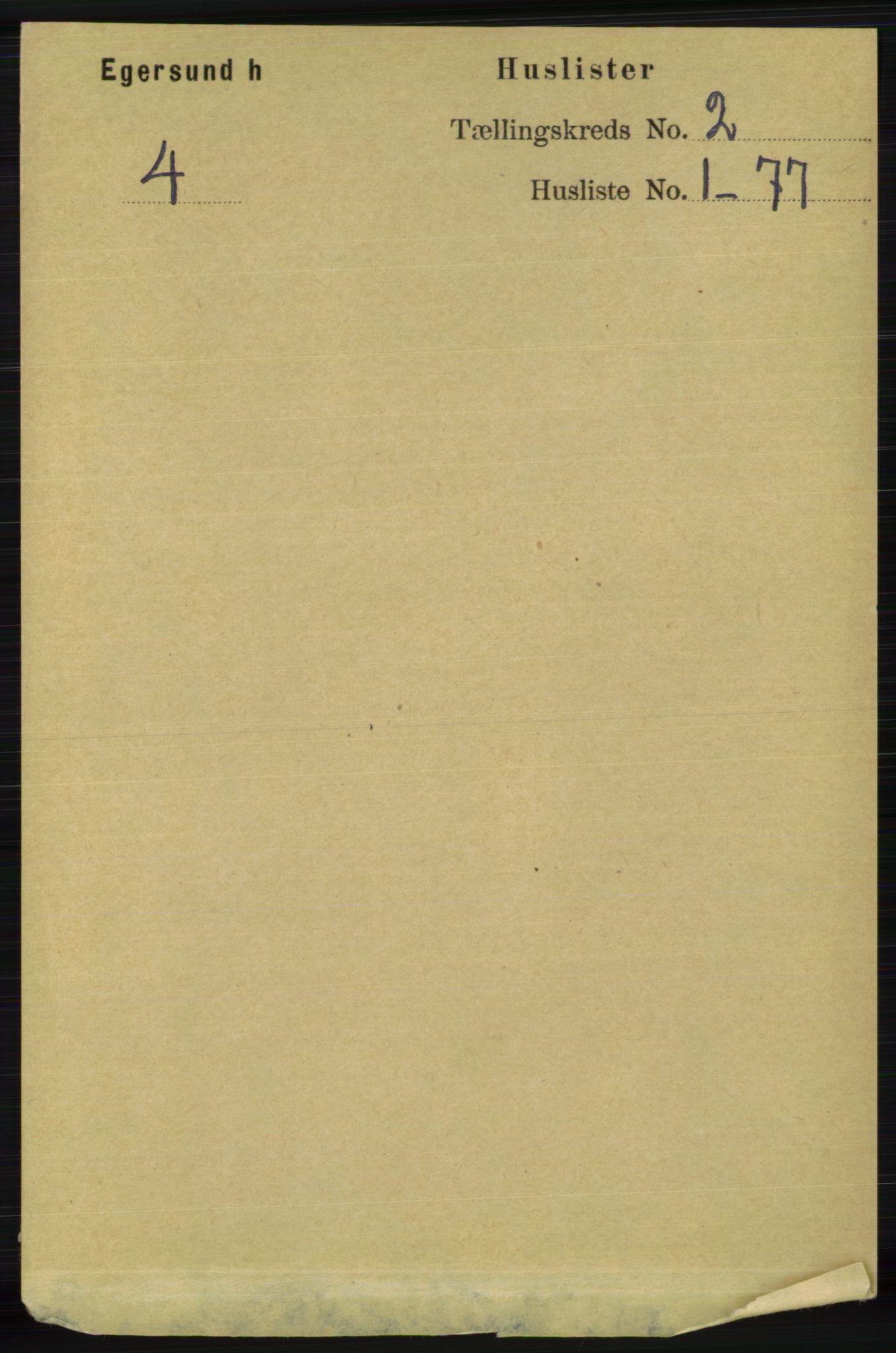 RA, Folketelling 1891 for 1116 Eigersund herred, 1891, s. 371