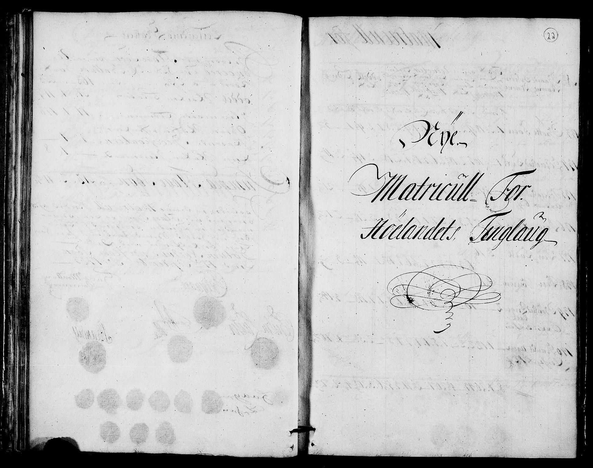 RA, Rentekammeret inntil 1814, Realistisk ordnet avdeling, N/Nb/Nbf/L0159: Gauldal matrikkelprotokoll, 1723, s. 21b-22a