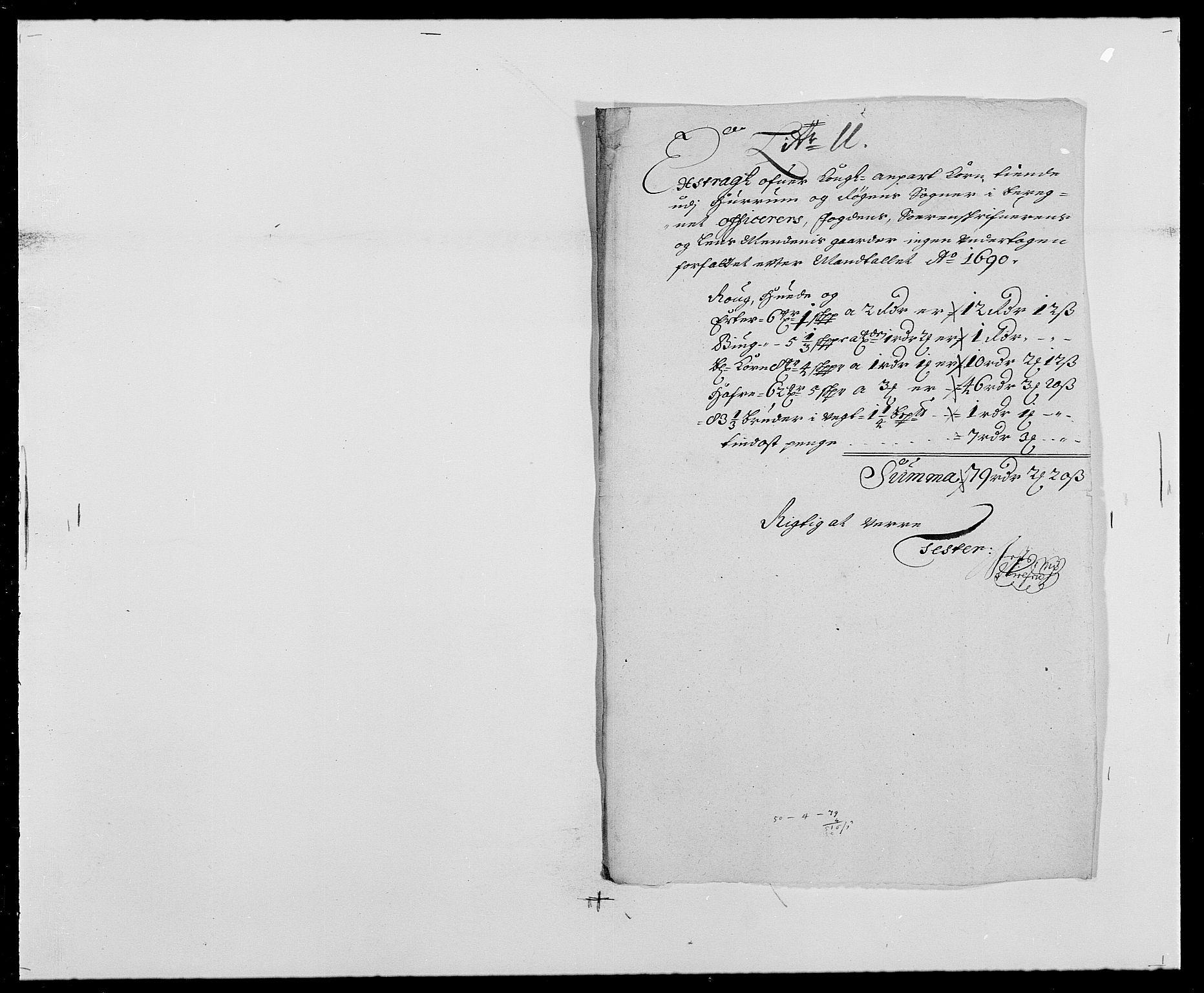 RA, Rentekammeret inntil 1814, Reviderte regnskaper, Fogderegnskap, R29/L1693: Fogderegnskap Hurum og Røyken, 1688-1693, s. 152