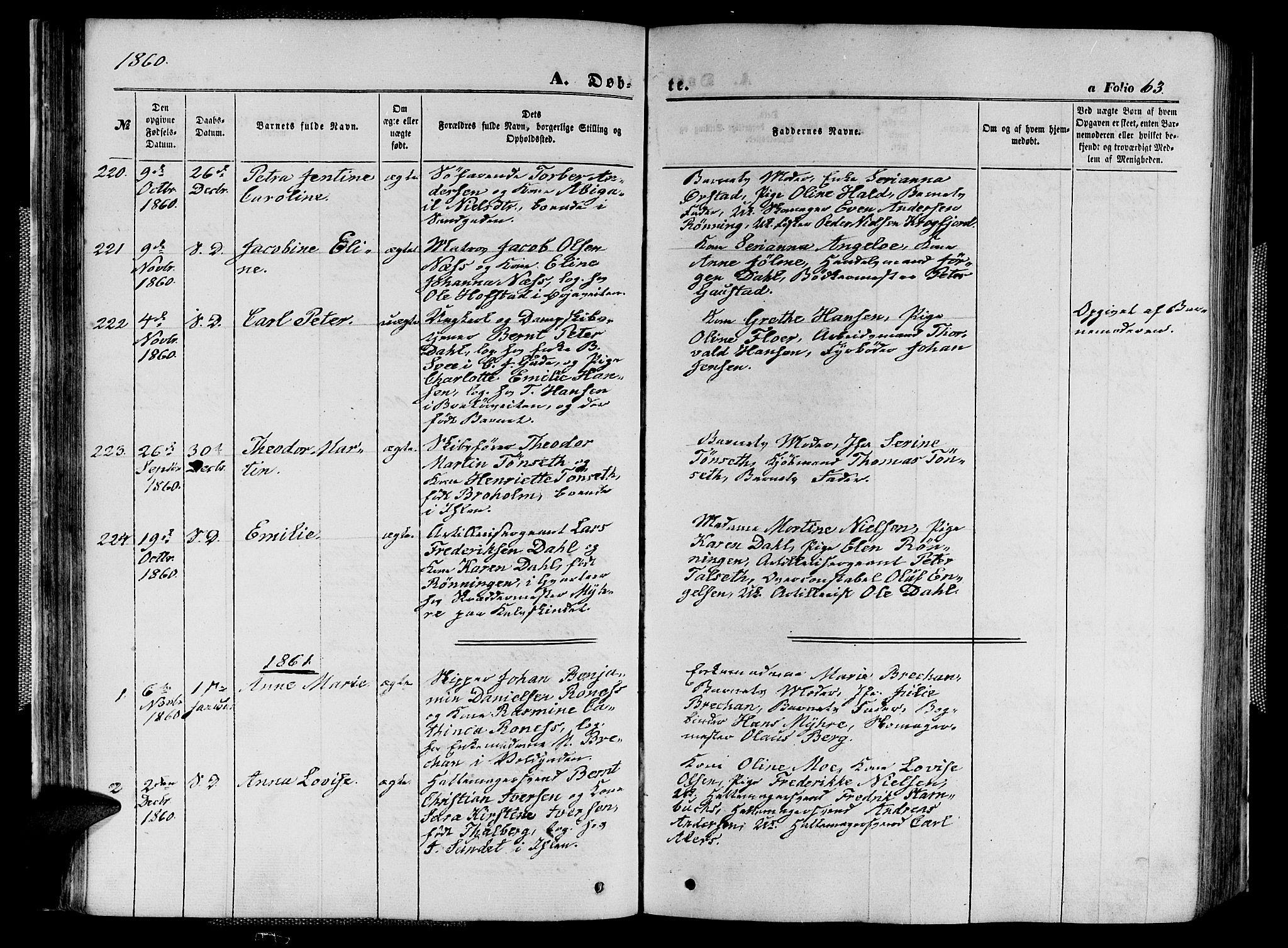 SAT, Ministerialprotokoller, klokkerbøker og fødselsregistre - Sør-Trøndelag, 602/L0139: Klokkerbok nr. 602C07, 1859-1864, s. 63